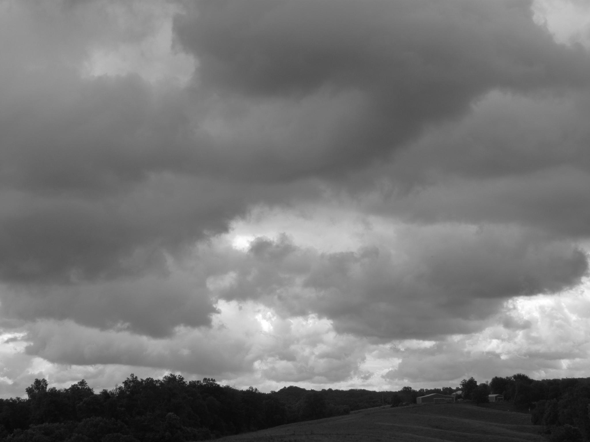B/W Clouds by Lynda Lorenz