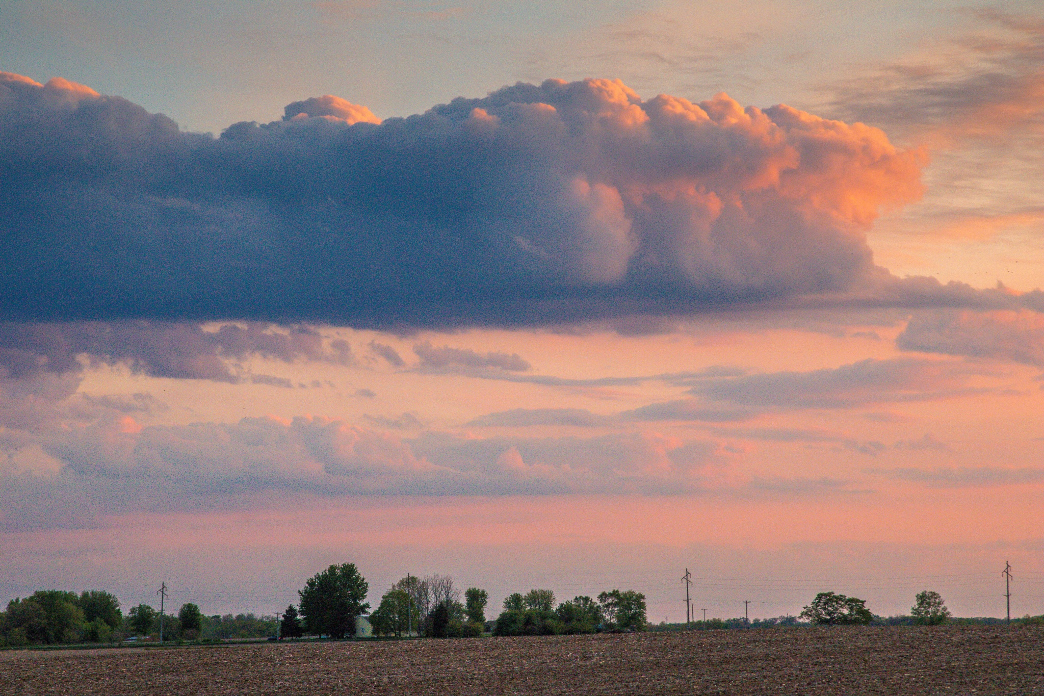 Photo in Landscape #clouds #sunset #country #illinois