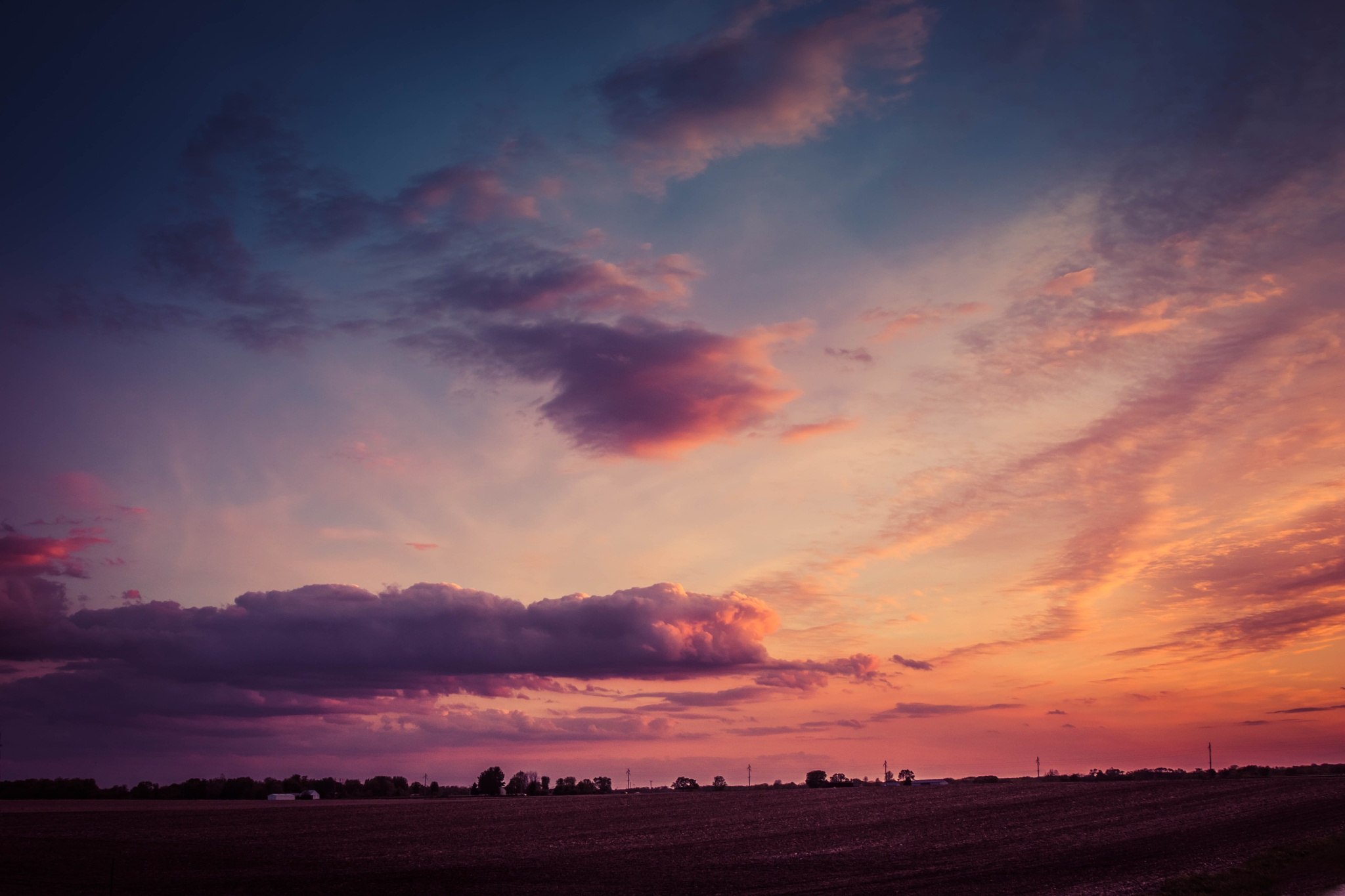 Photo in Landscape #midwest #illinois #sunset #countryside #clouds #spring