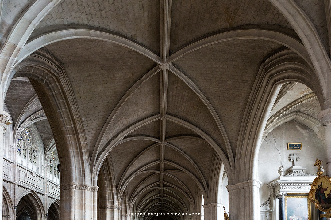 Gothic ceiling cathedral of Orleans France by sjef.frijns