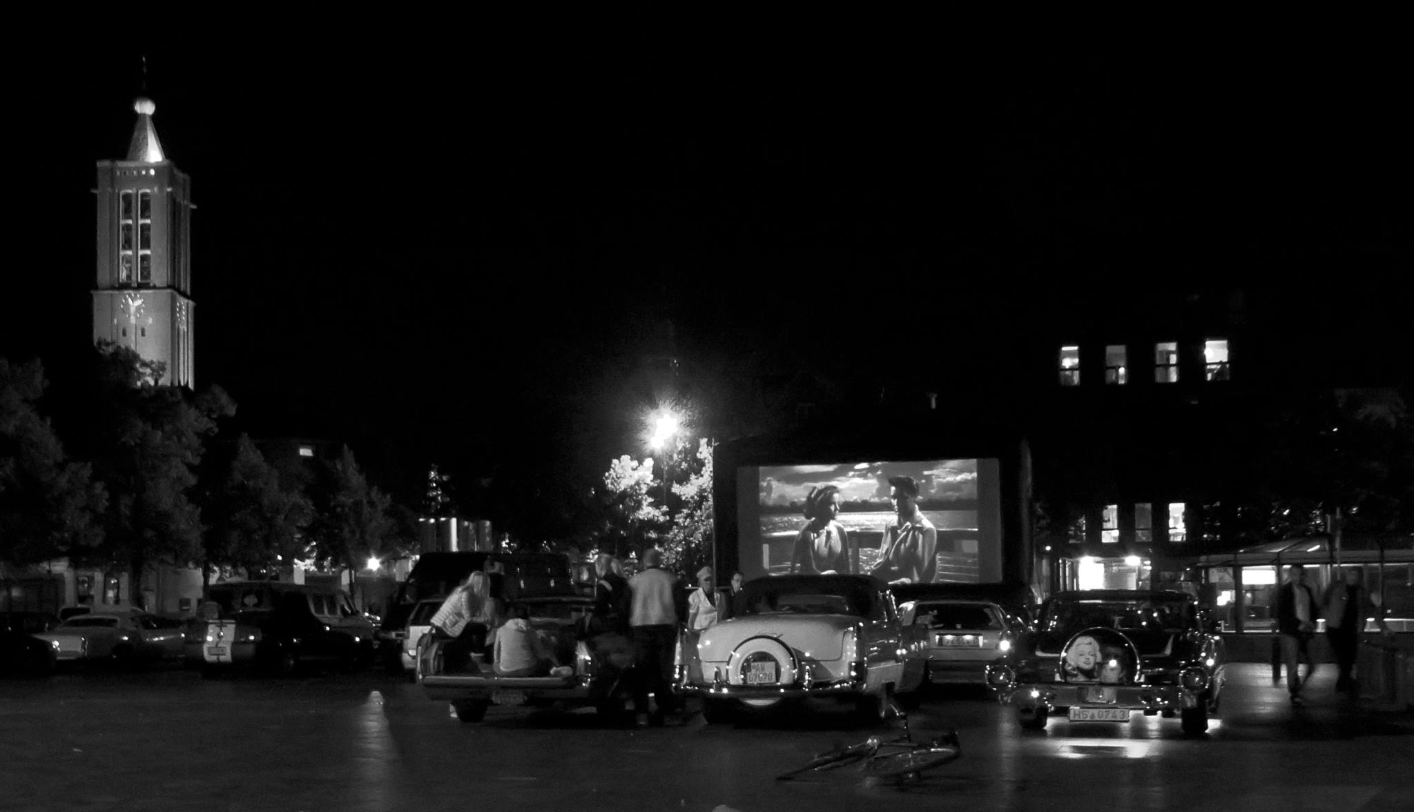 Photo in Black and White #feel the fifties #venlo #meeting #drive in movie #oldtimers #old cars