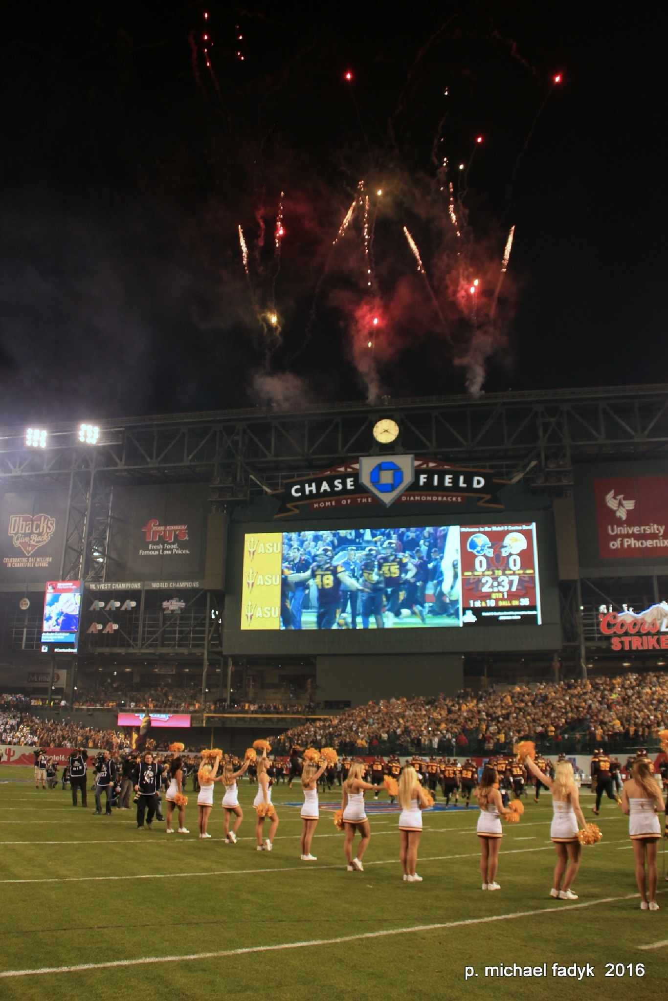 cactus bowl fireworks by P. Michael Fadyk