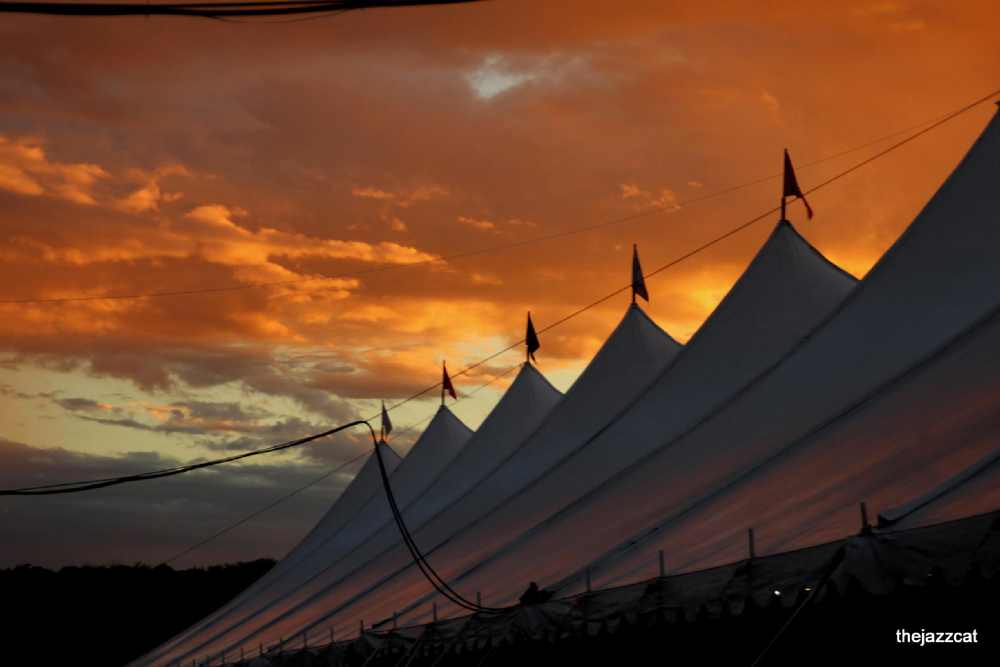 tents and sunsets by P. Michael Fadyk