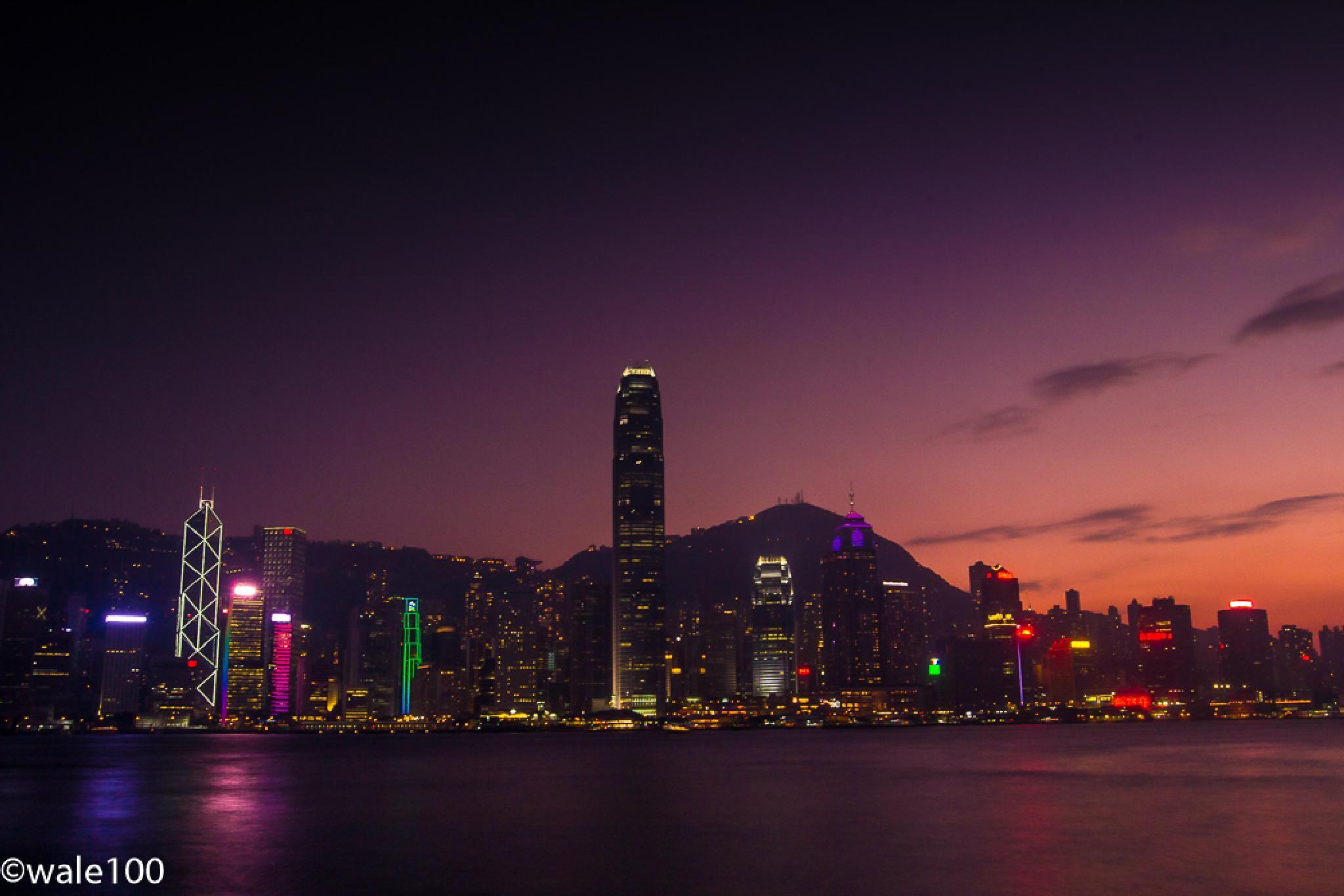 Hong Kong Island @sunset by wale