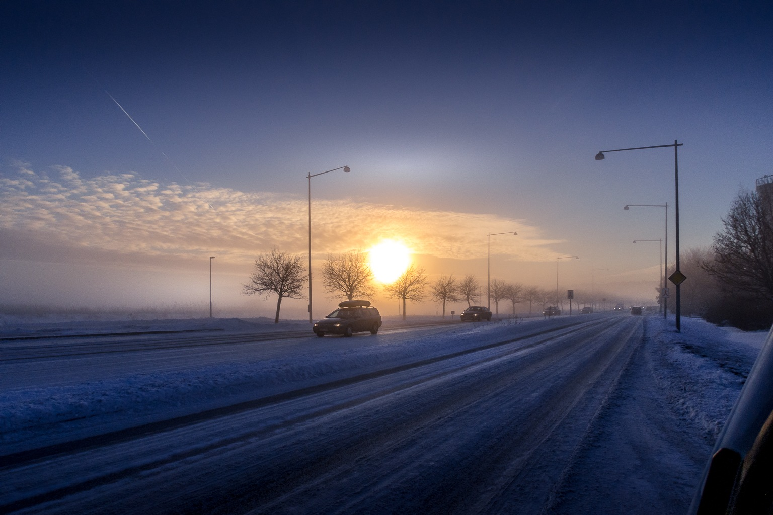 A cold winterday by Kim Jonsson
