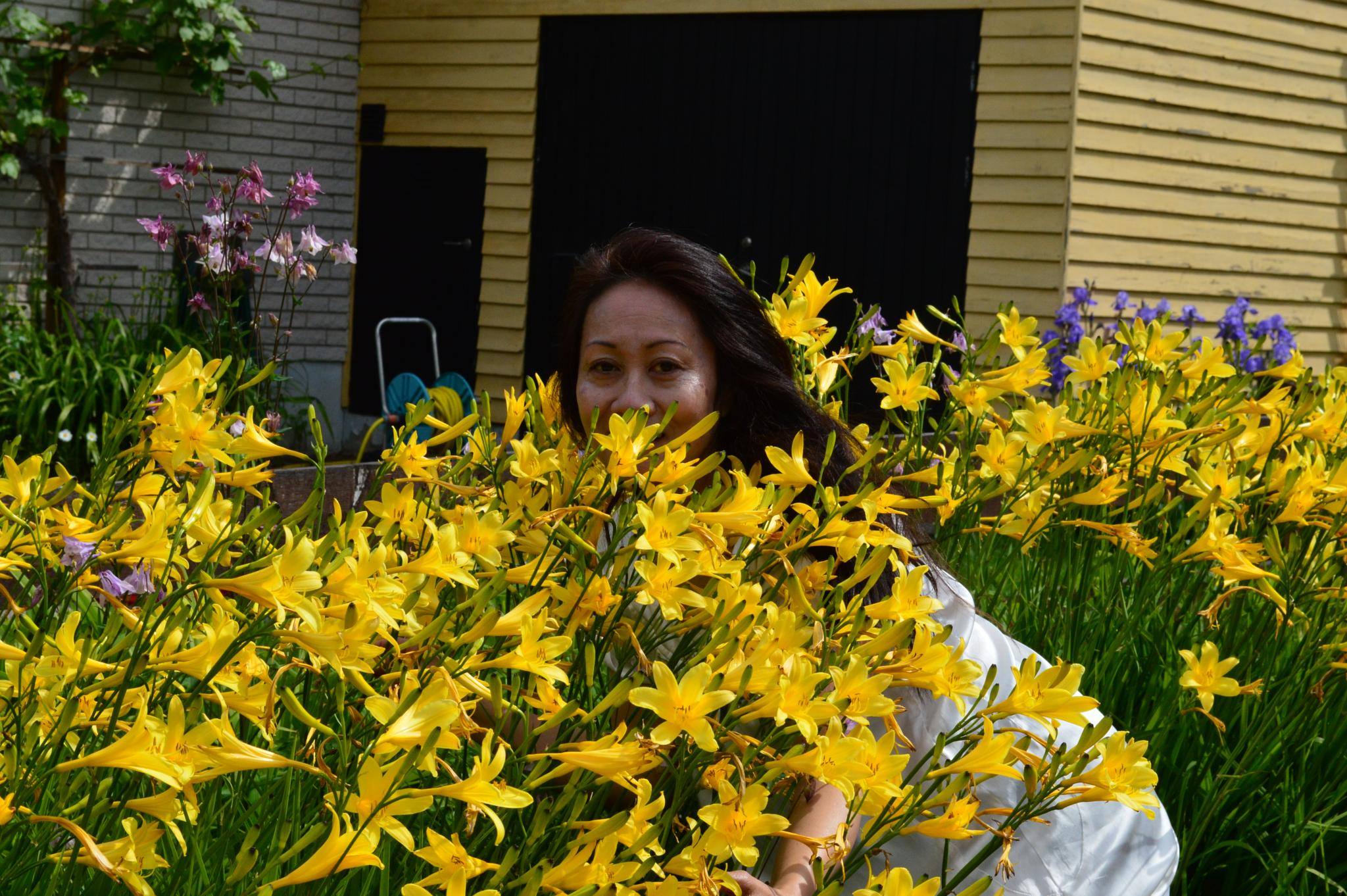 Lady with the yellow lilies! by Mina T. Norgren