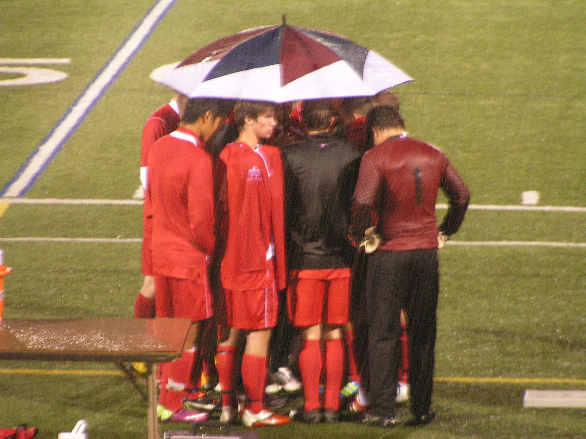 Halftime Discussion As It Rains by mtunit138