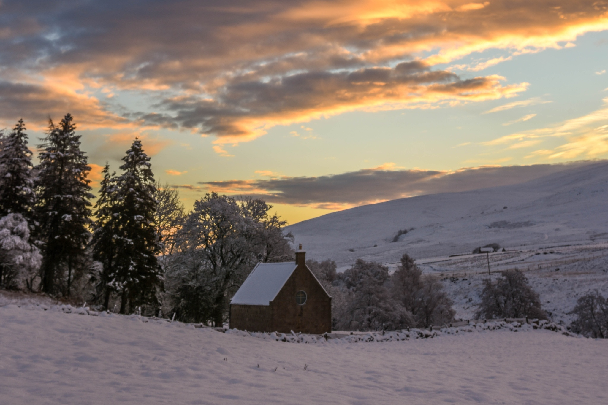 Church at Forest of Birse Too by Andrew Dalgarno