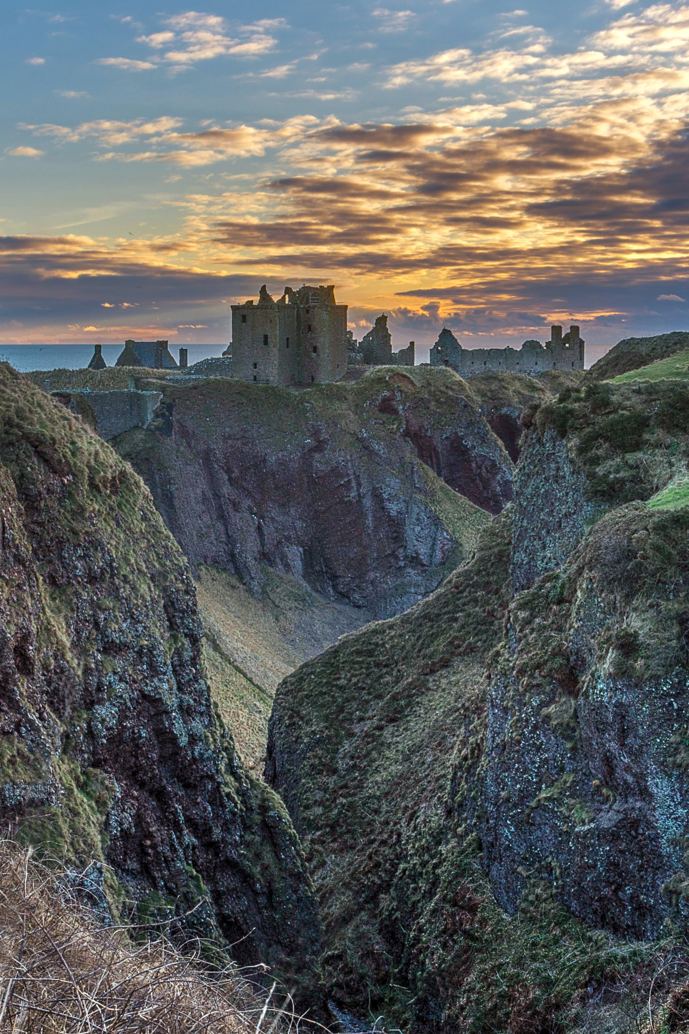 Dunnottar at Dawn by Andrew Dalgarno