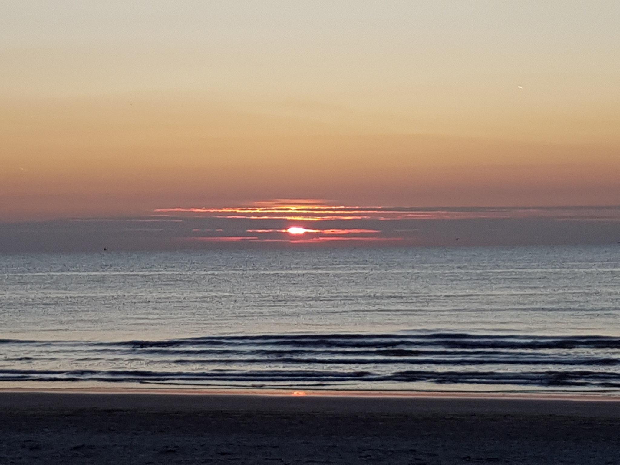 Sundown at sea by Inez