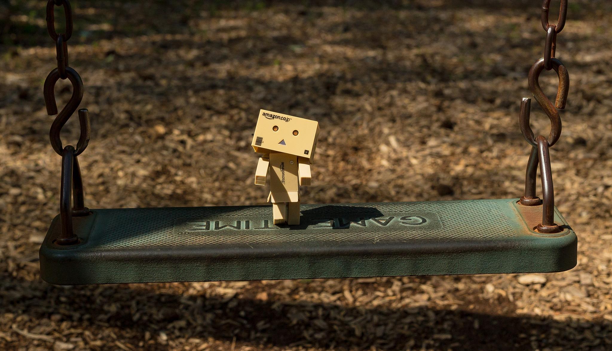 Danbo Swinging  by Michelle Eagan