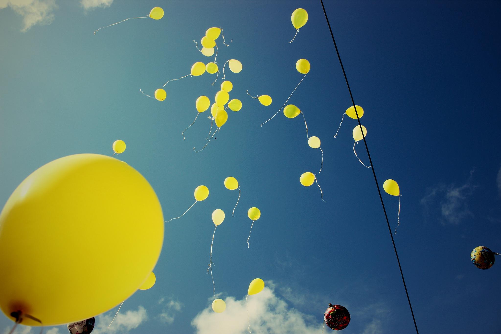 Balloons to Heaven 2 by Irene Billiot Sudduth