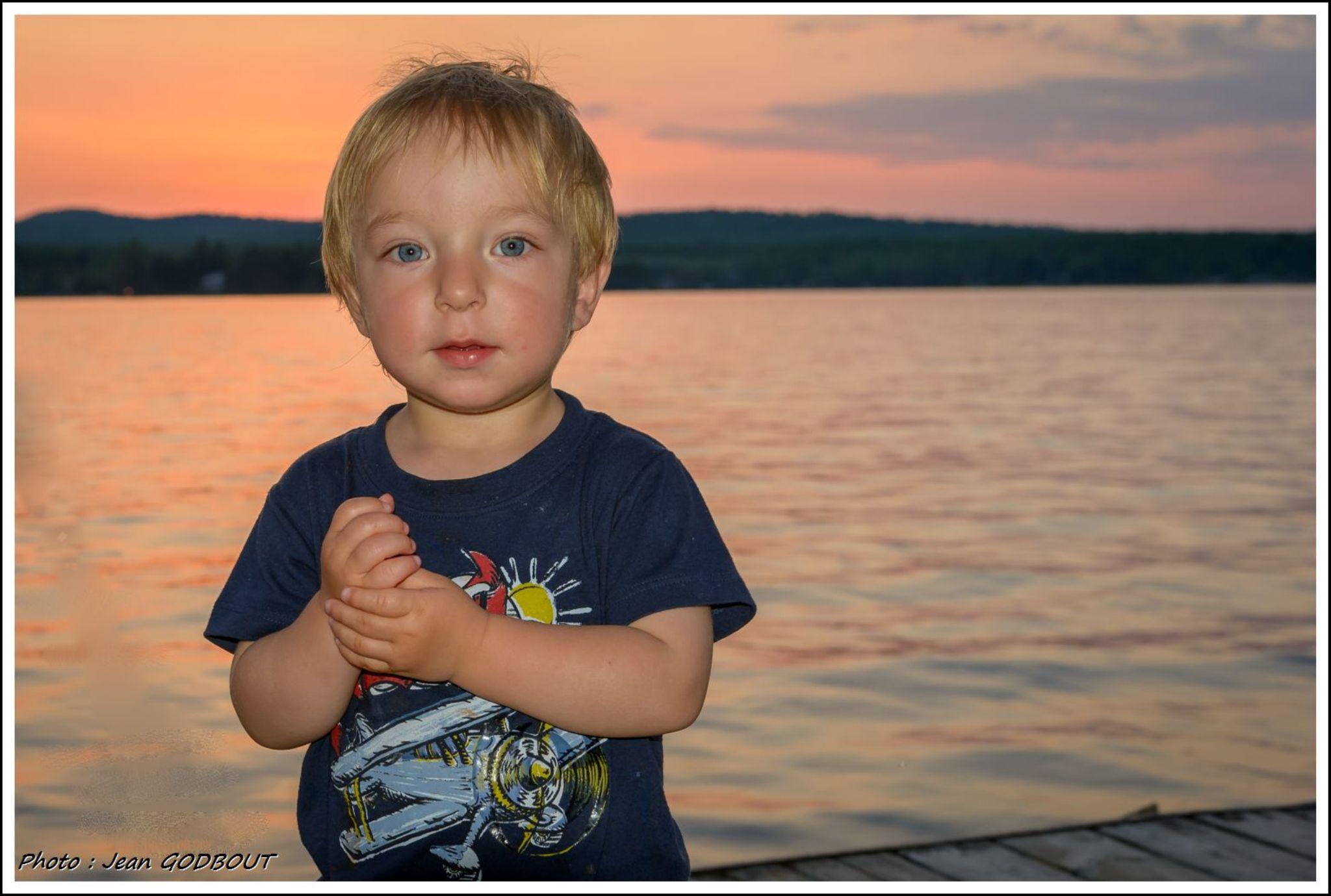 Boy at Brompton lake by Jean GODBOUT