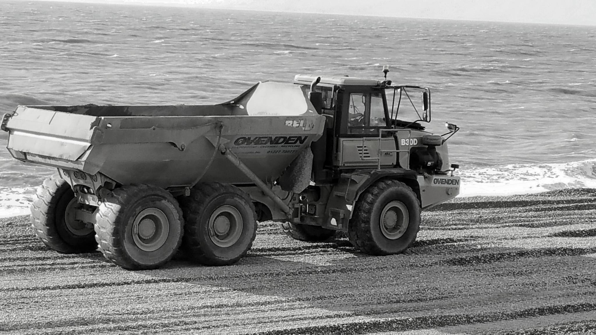 Big toy on the beach!! by Jayne Aveline
