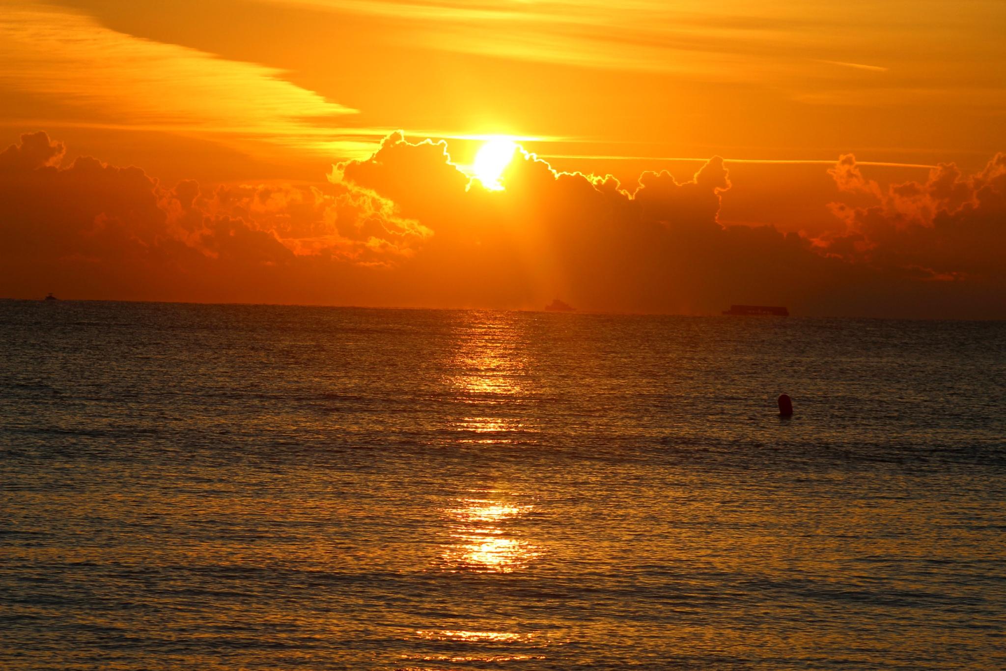 Sunrise at the beach by michael.grogan.969