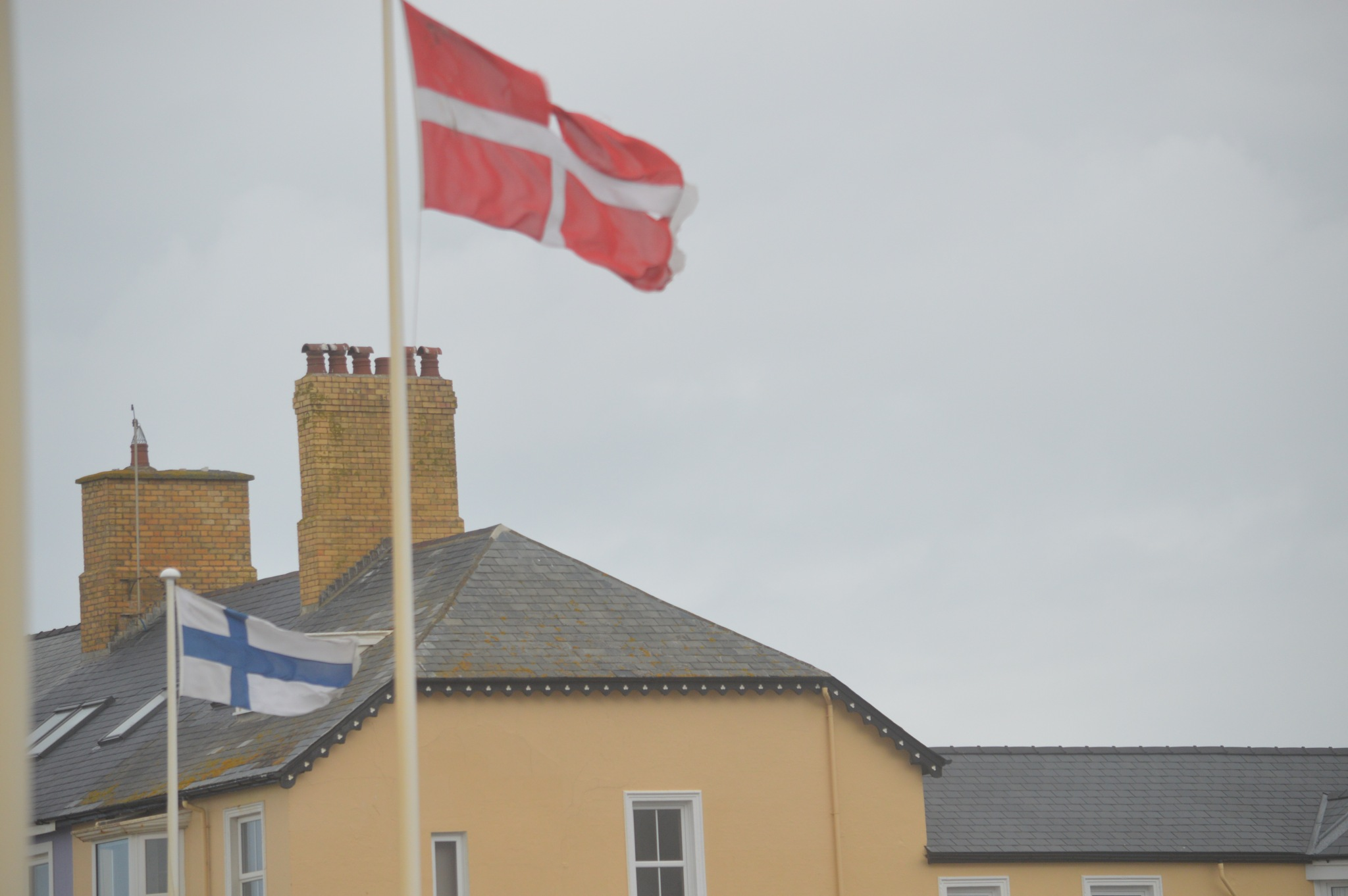 Flags At Aberystwyth in the wind by adrian.williams.58323