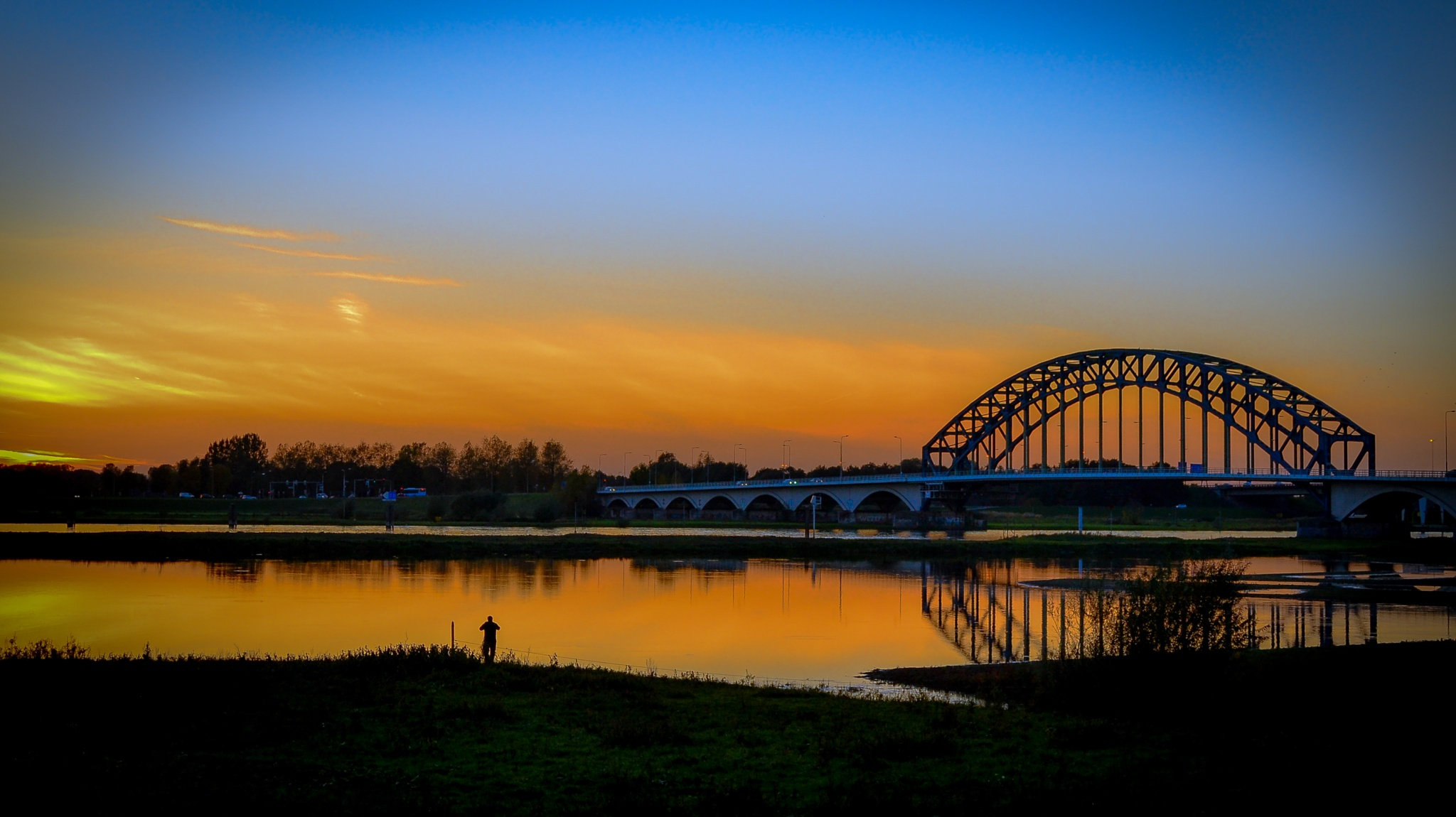 Sunset at the river the IJssel .. by peter.wisniewski.31