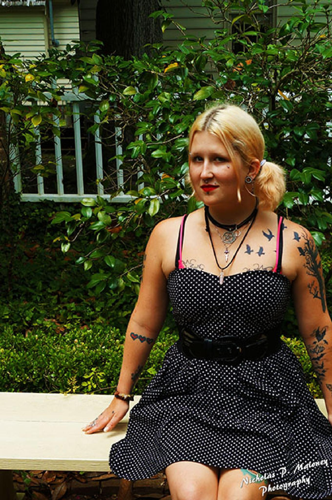 Black polka dot dress by NPM.Studios