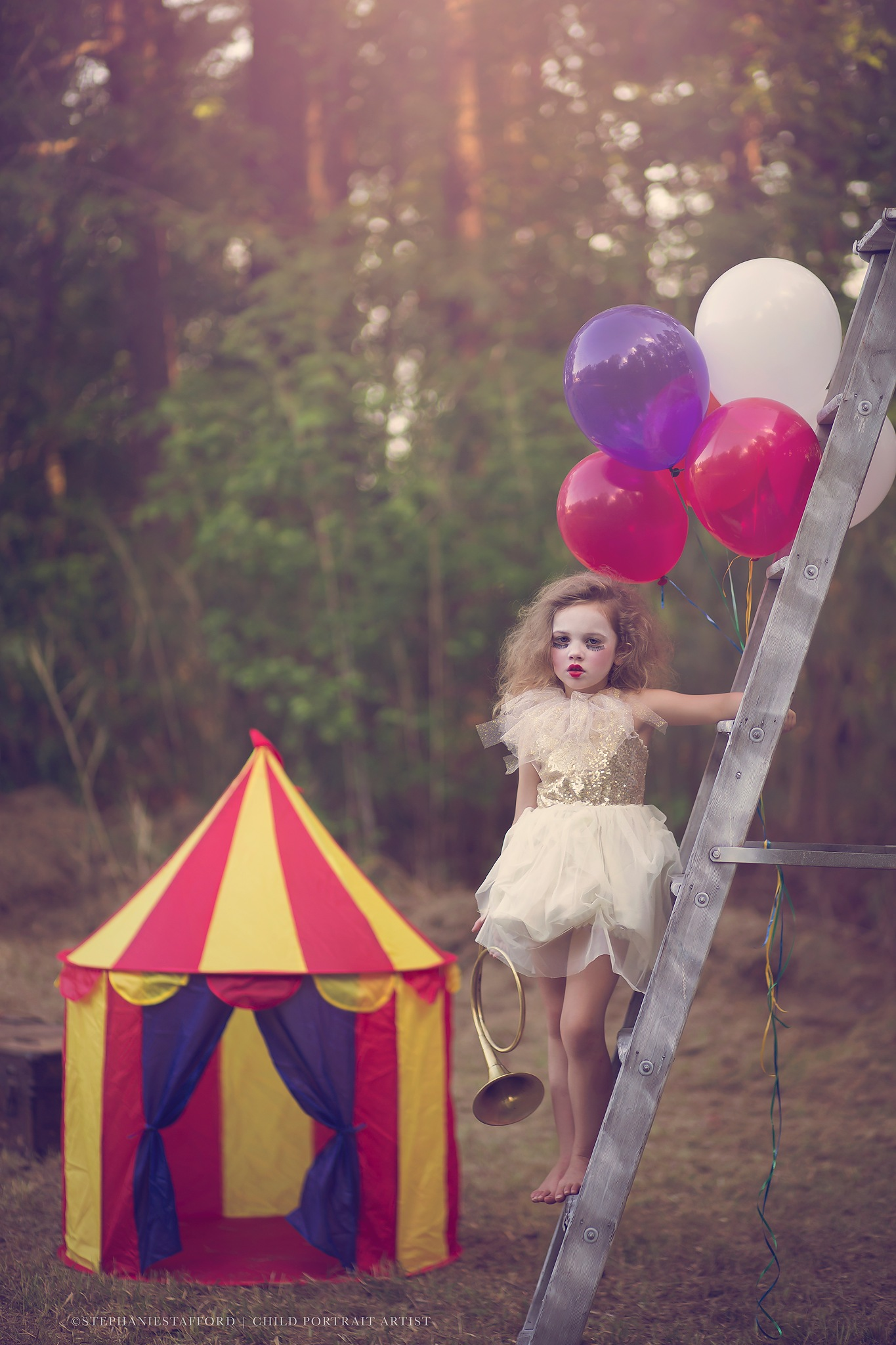 Photo in Fine Art #circus #child #model #balloons #tent #love #photo #photography