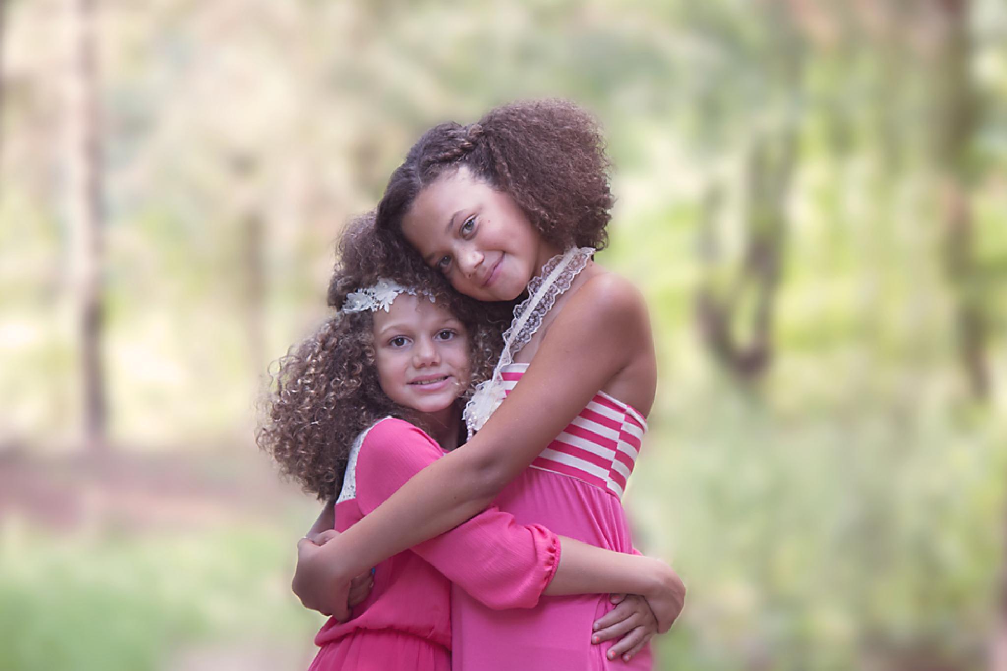 Photo in Portrait #sisters #siblings #pink