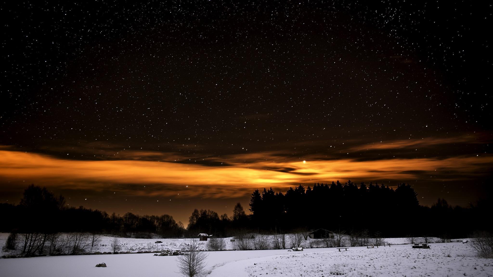 Night sky over Fulltofta by Benny Olsson