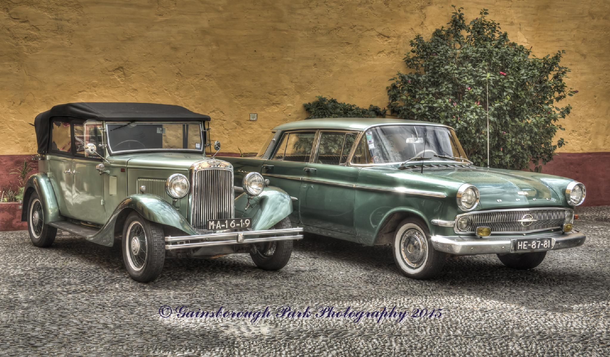 Classic cars, Sao Tiago Fort, Funchal by Gainsborough Park Photography