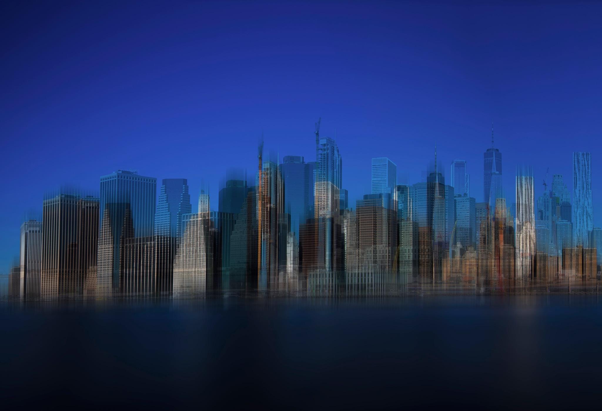 NY skyline fantasia by Ahmed Thabet