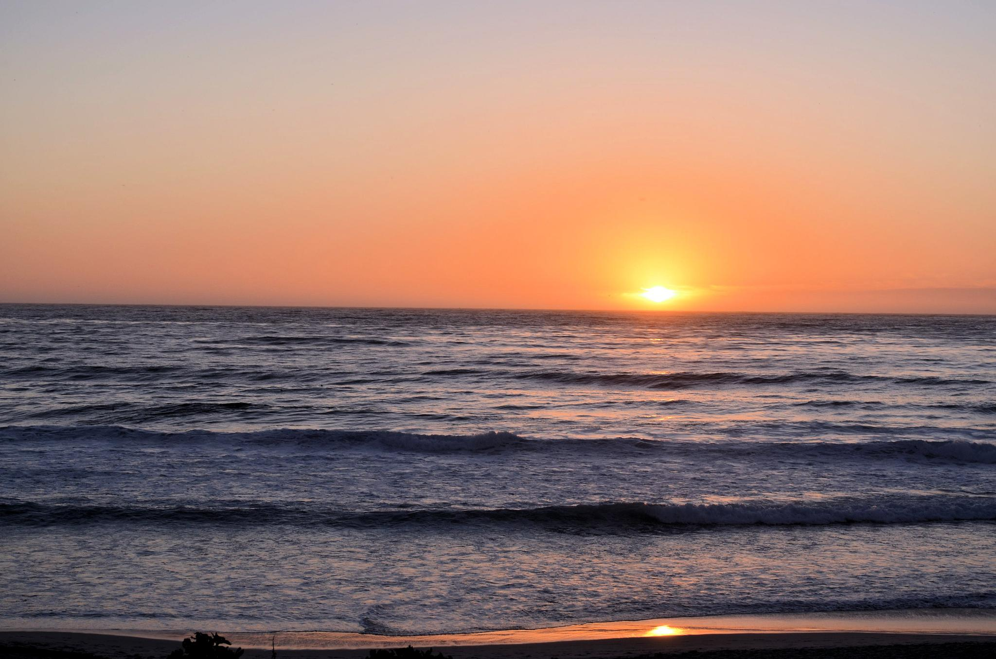 Sunset on the Pacific Coast by Stephanie Miller