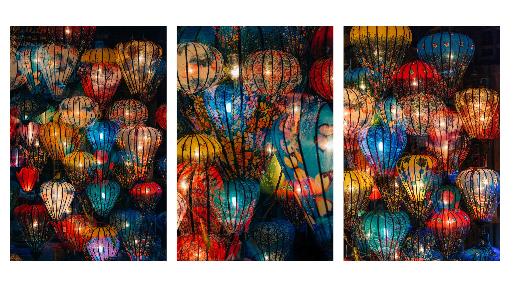 A Sea of Lanterns III (Triptych) by Peter Stewart