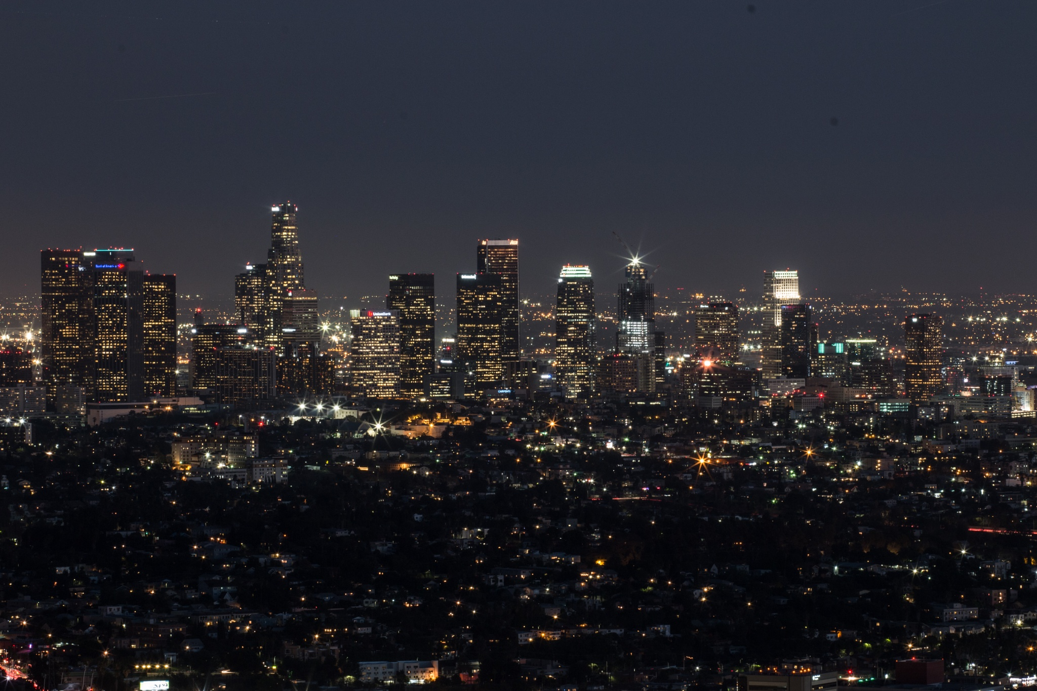 L.A. skyline by Tonally Fabela
