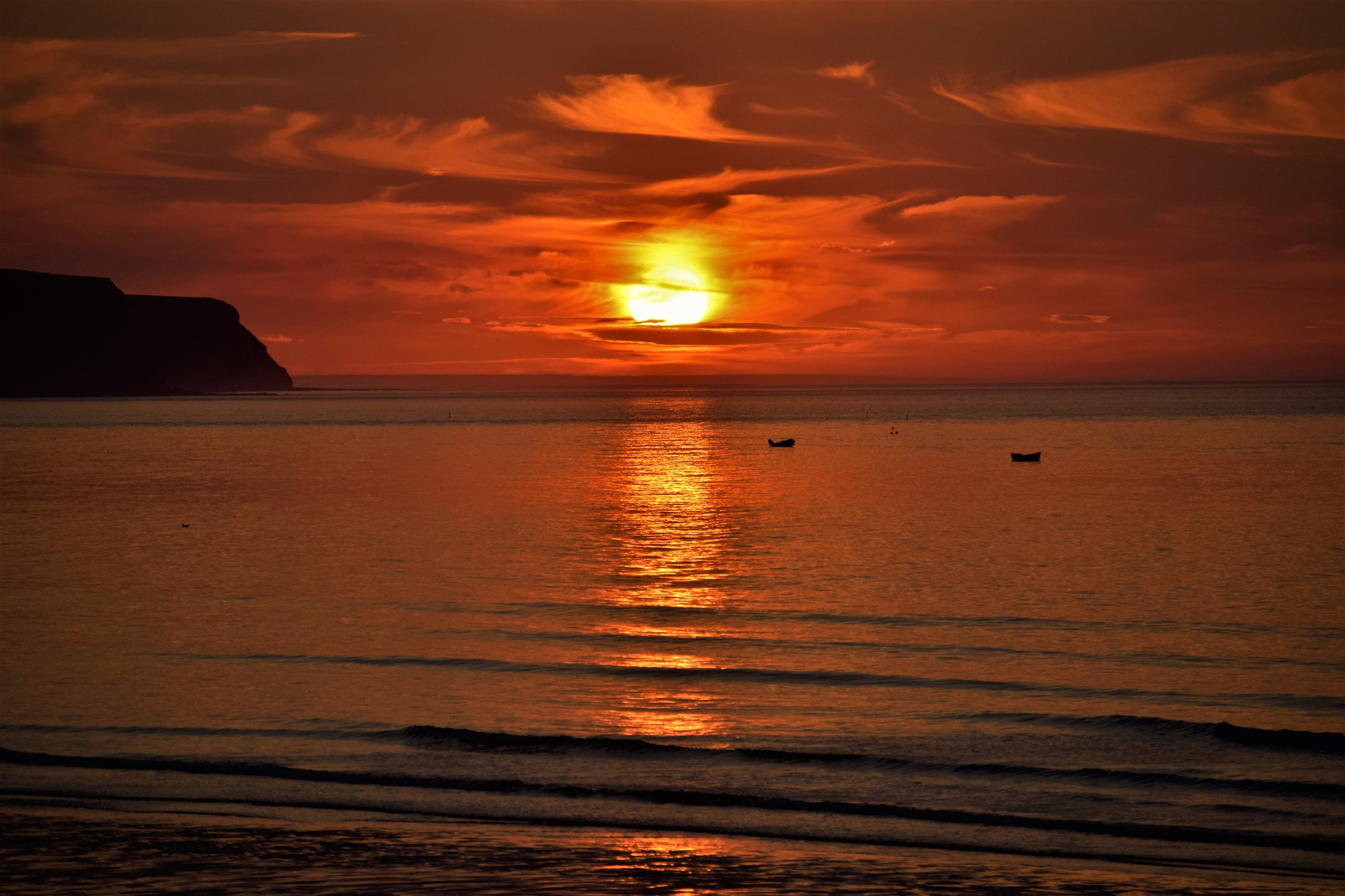 Whitby Sunset by Jamie Swan
