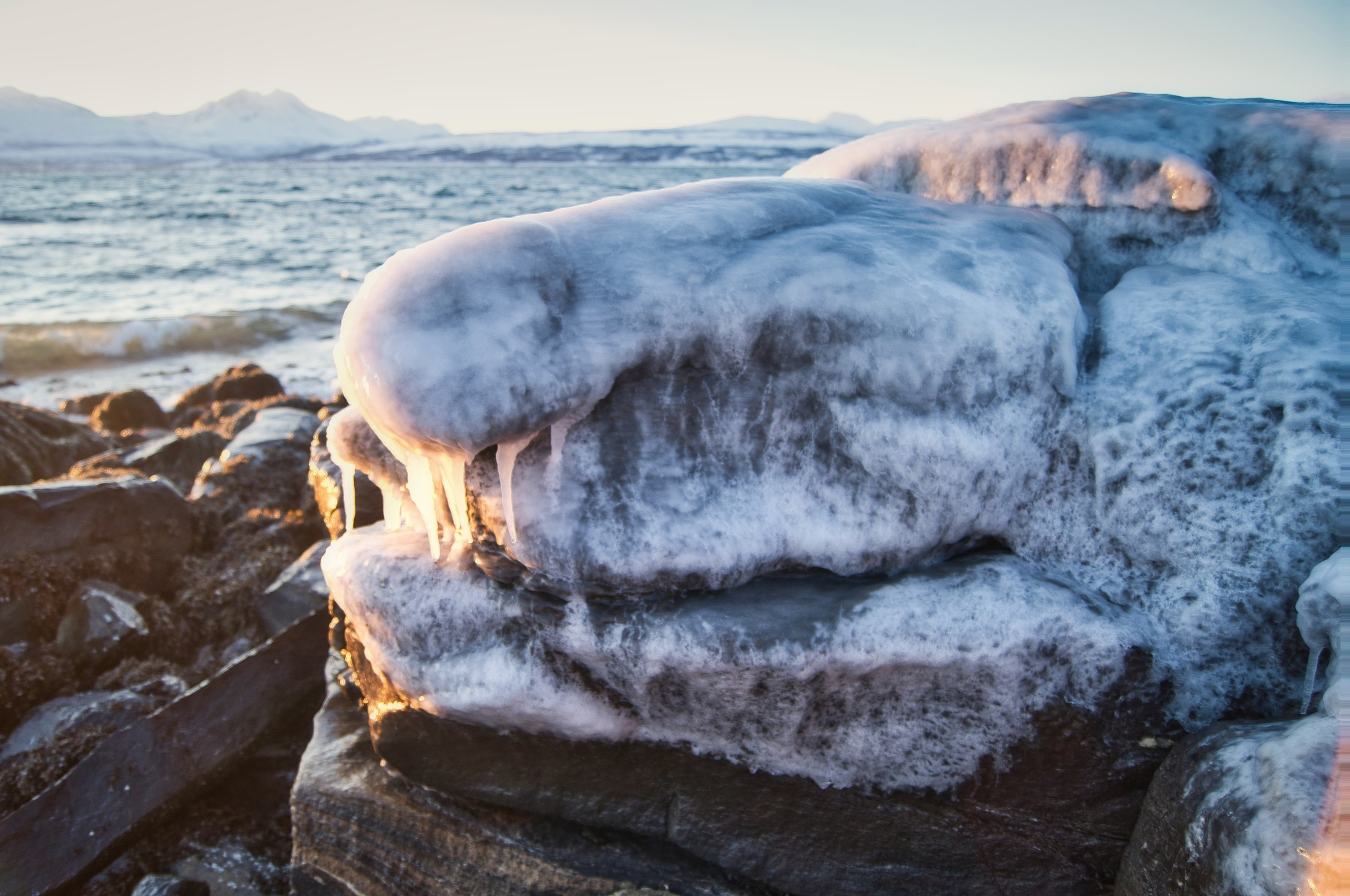Photo in Nature #ice #monster #troll #cold #winter #sea #stone #rock #seascape #icicle