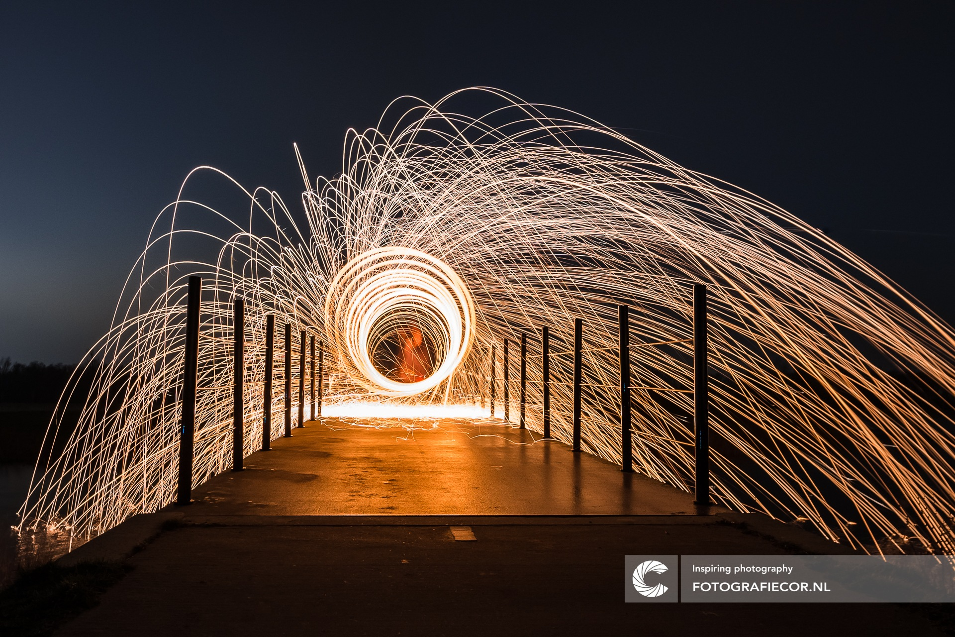 Burn some magic in the night by Cor van der Waal