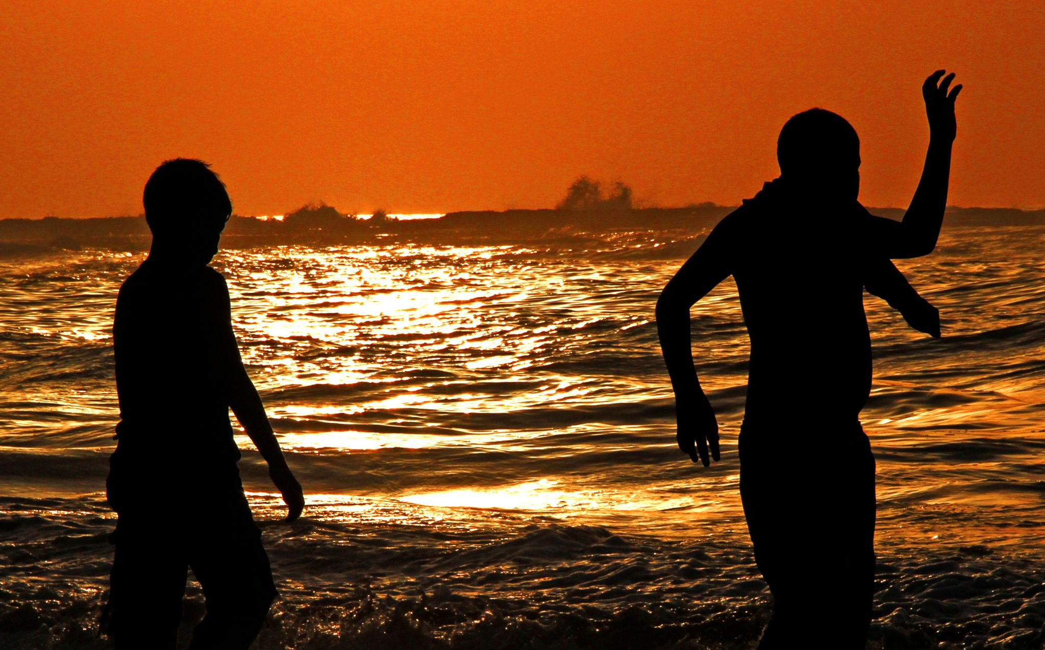 Sunset kids  by Badr Pedro