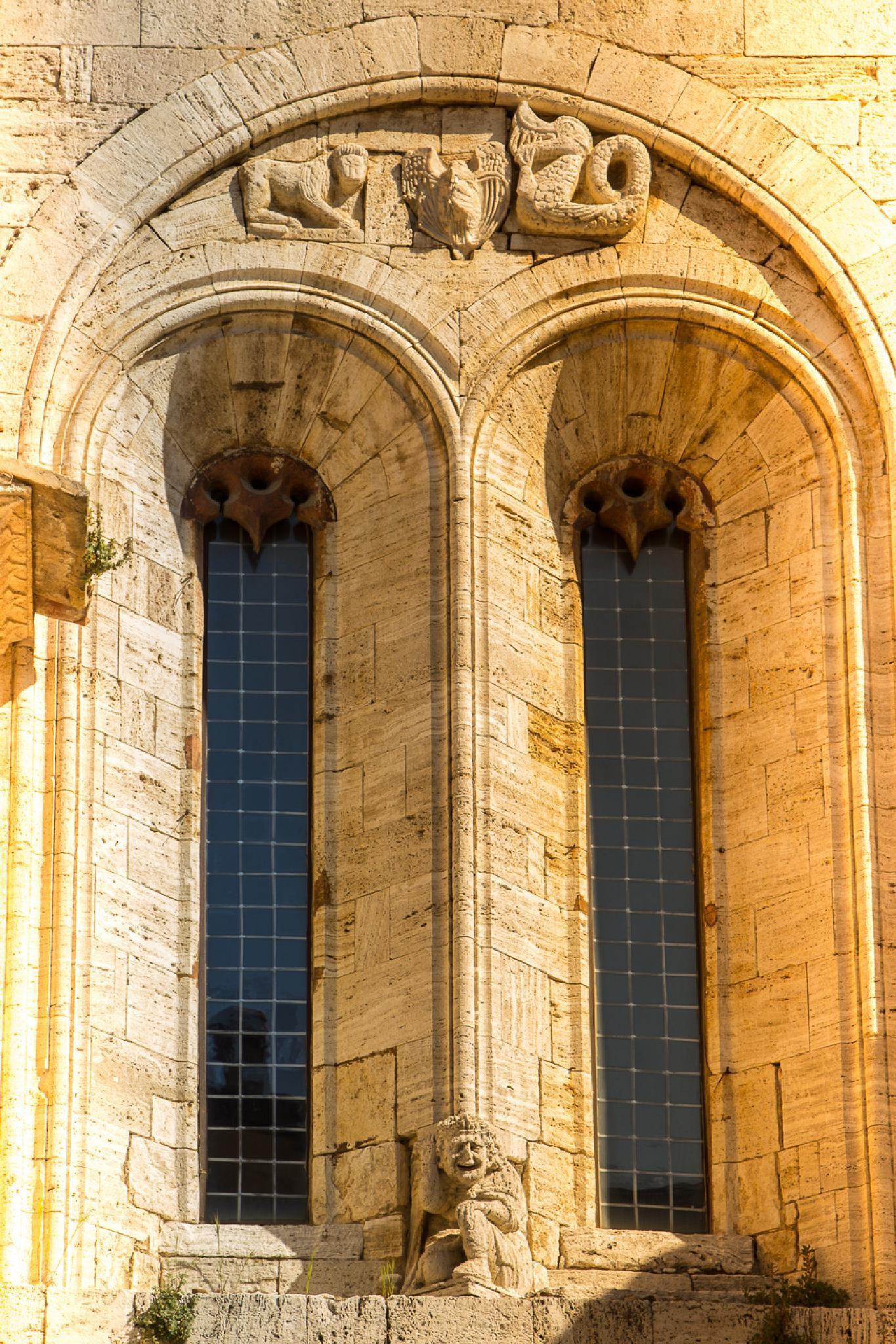 Collegiata windows by Maurizio Fissi