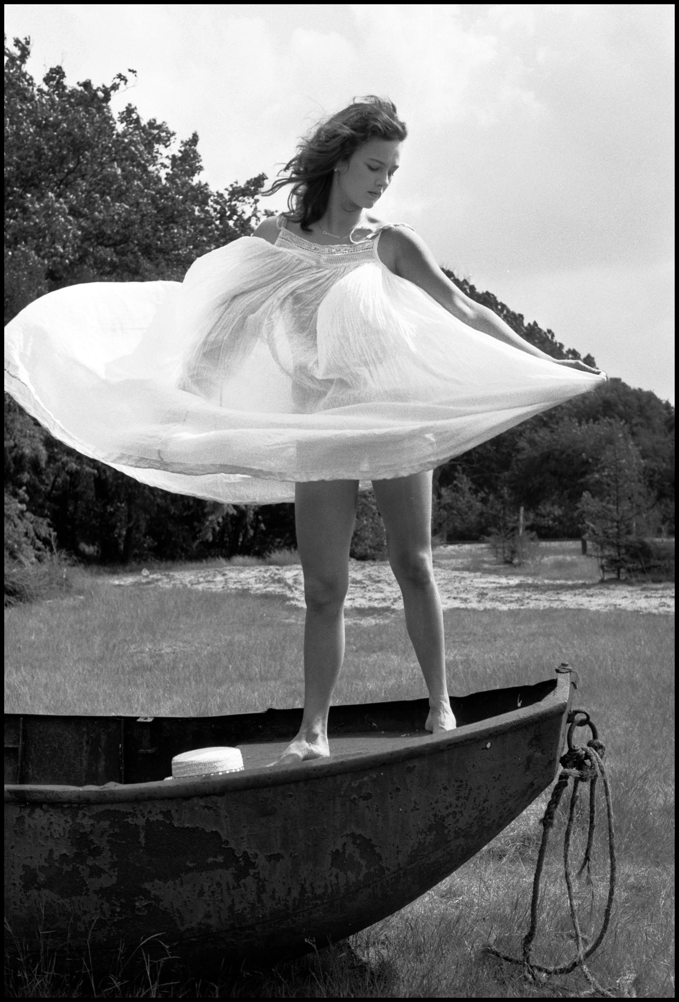 Photo in Black and White #girls #nature #outdoor #boat