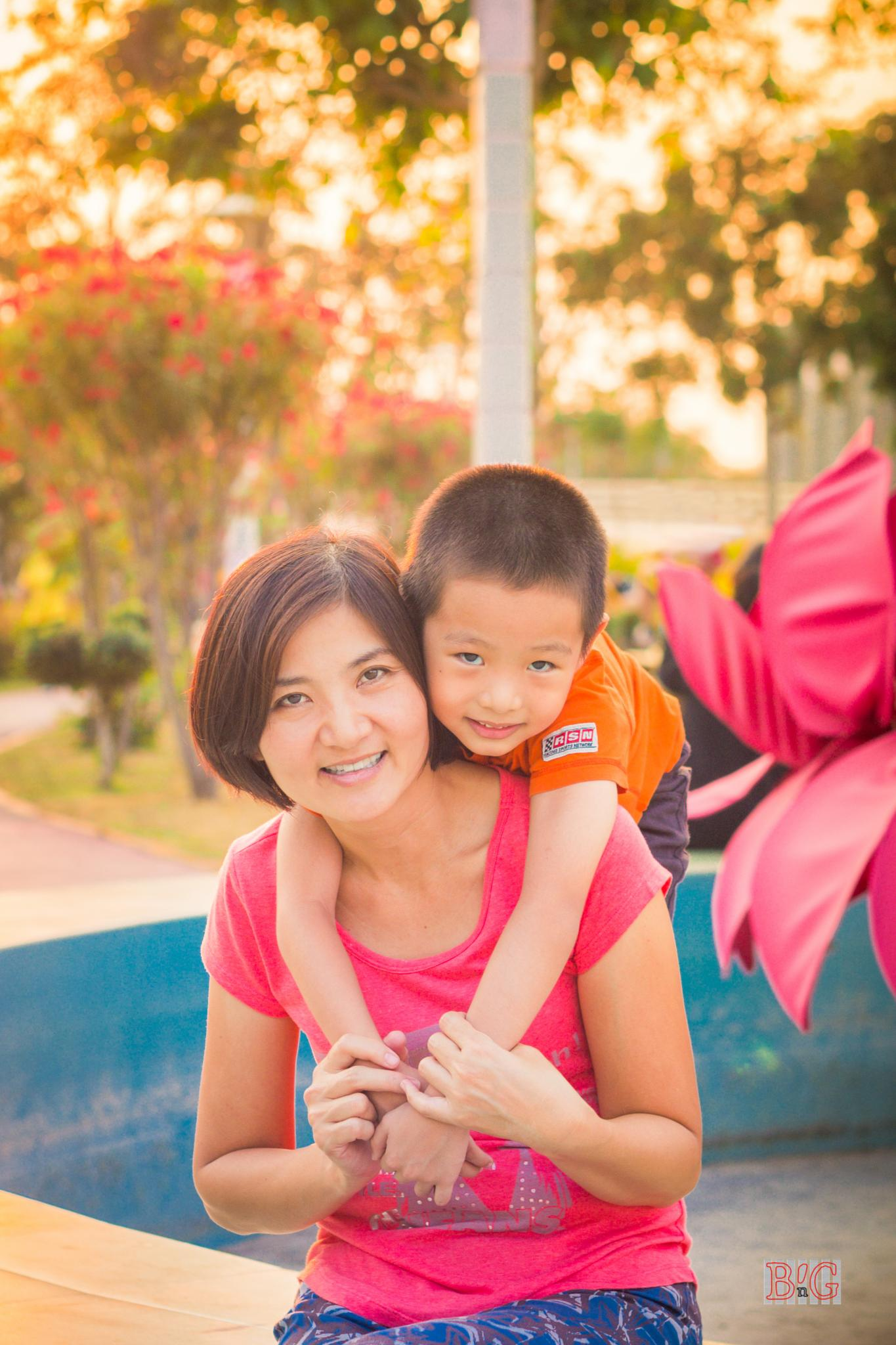 Boy Junior and her mom by jennymissu