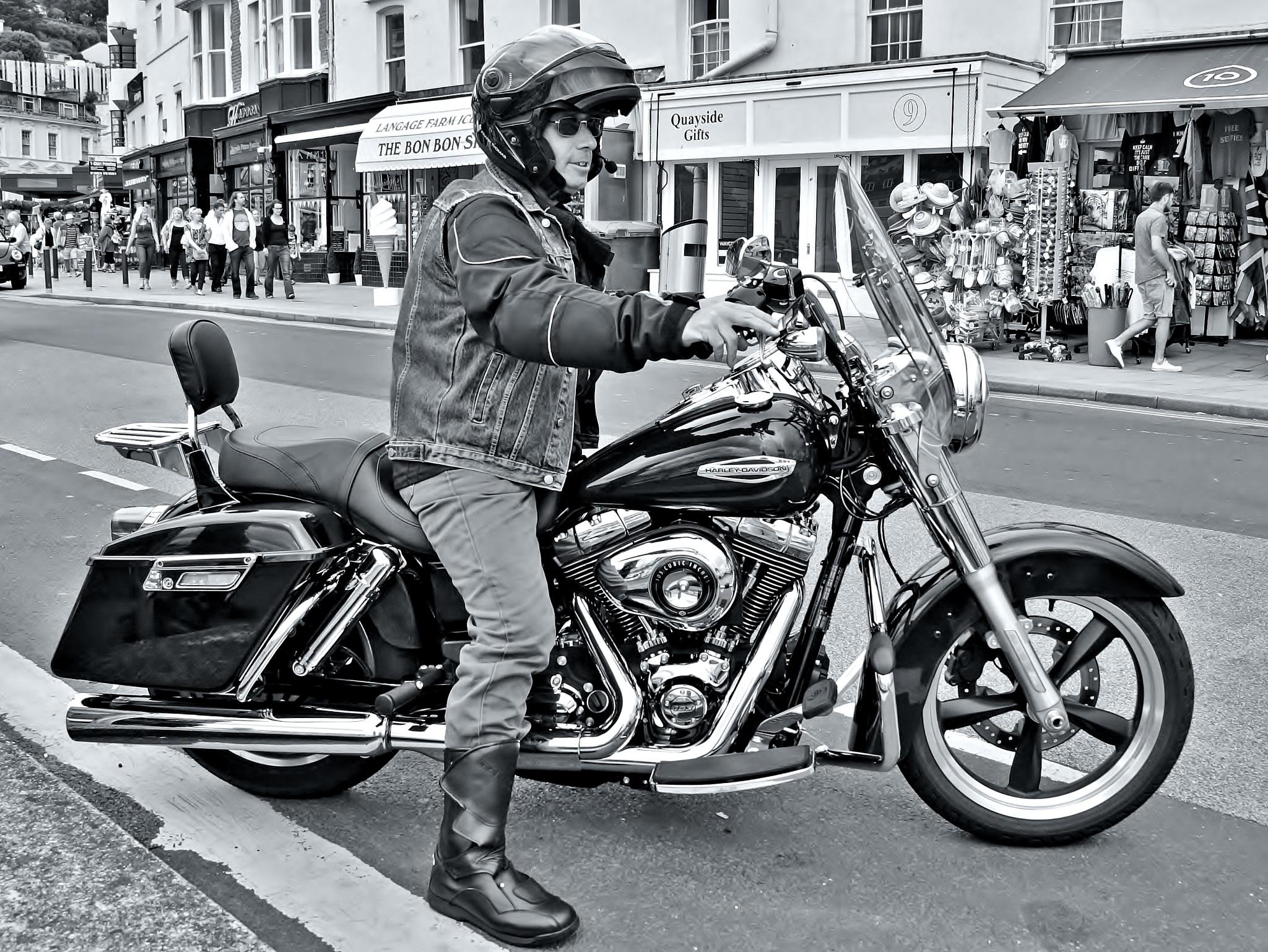 Harley Rider - Monochrome by paul.hosker
