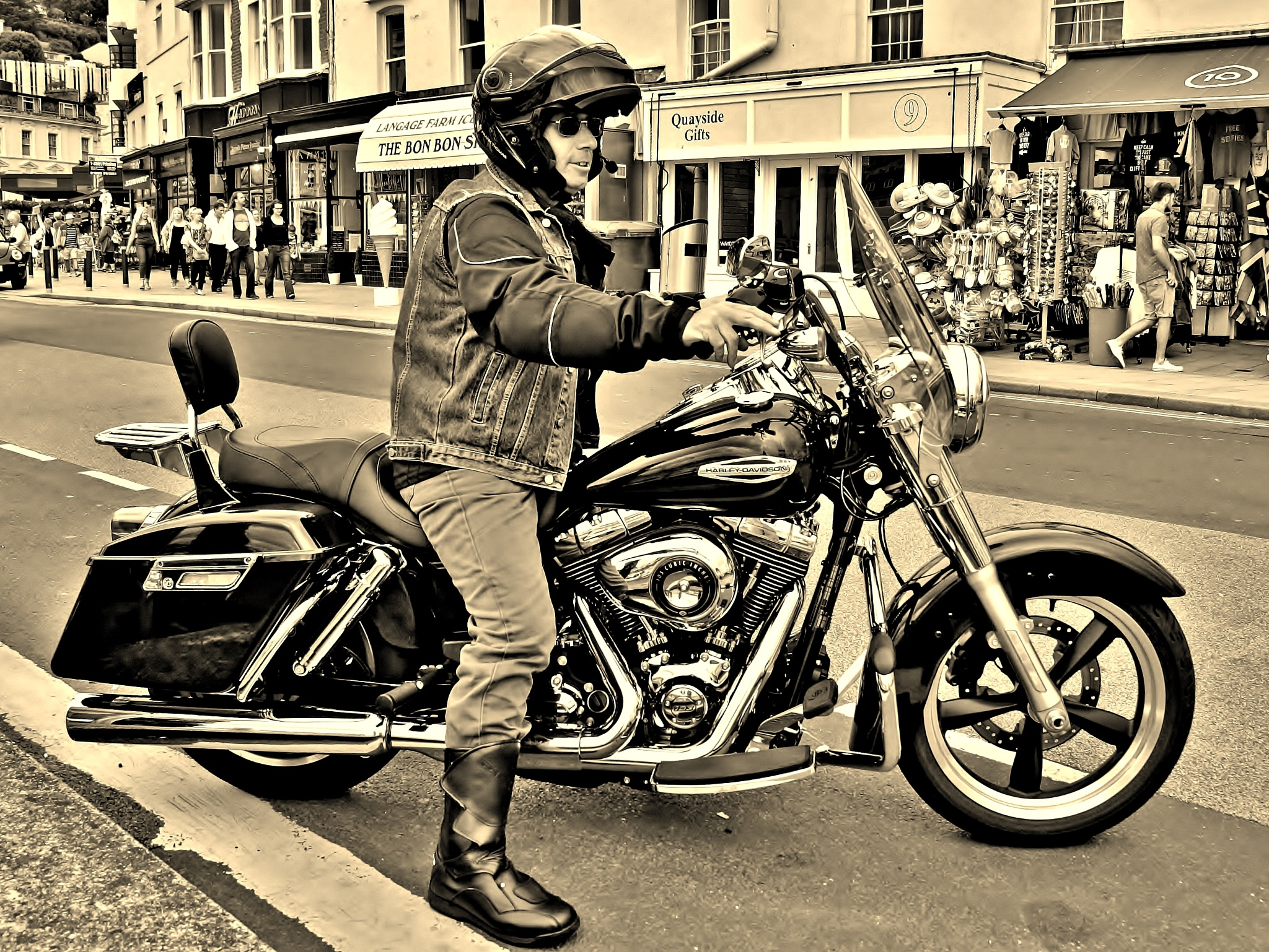 Harley Rider - Sepia by paul.hosker