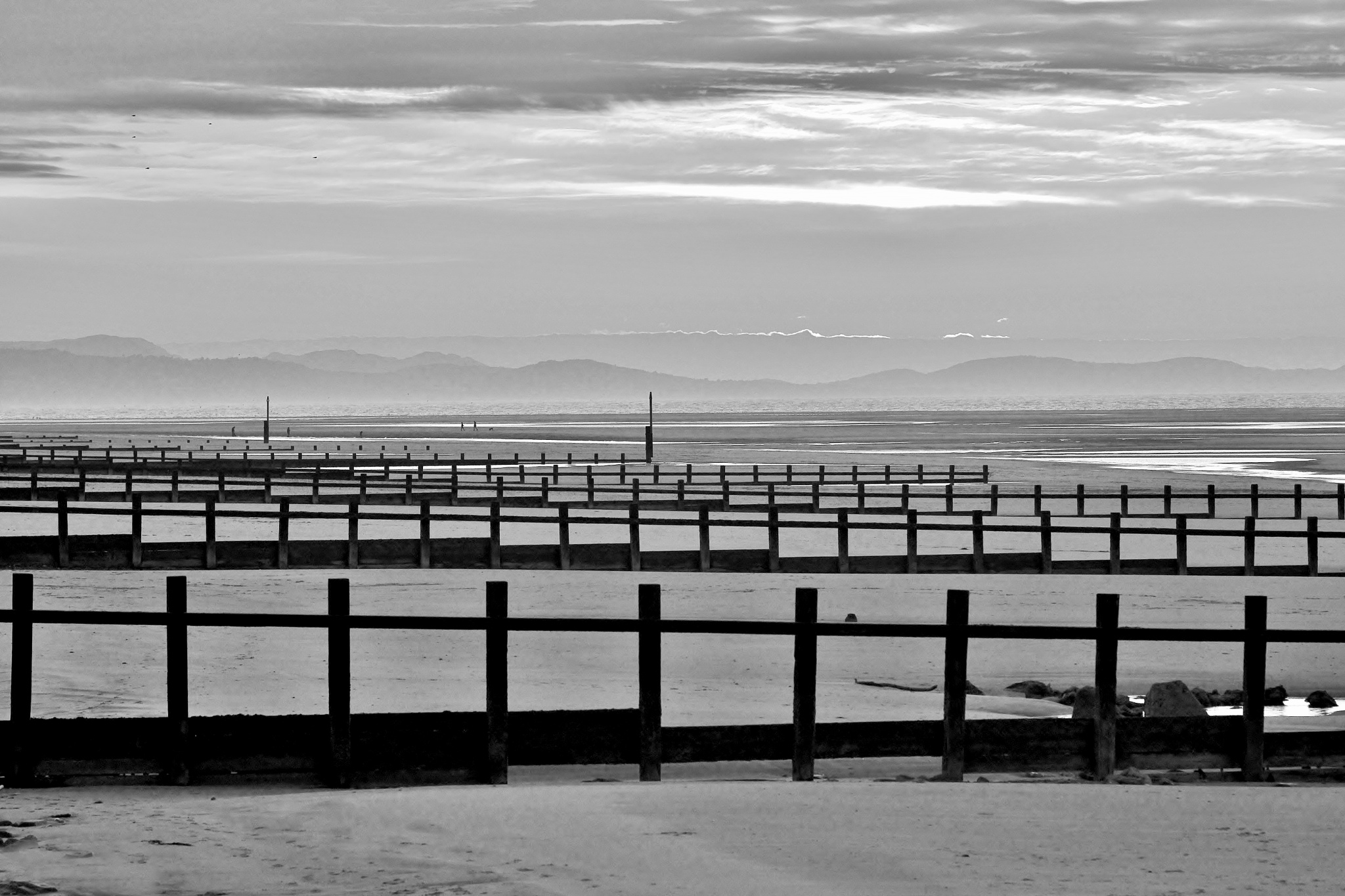 Sundown - Rhyl - North Wales - Monochrome by paul.hosker