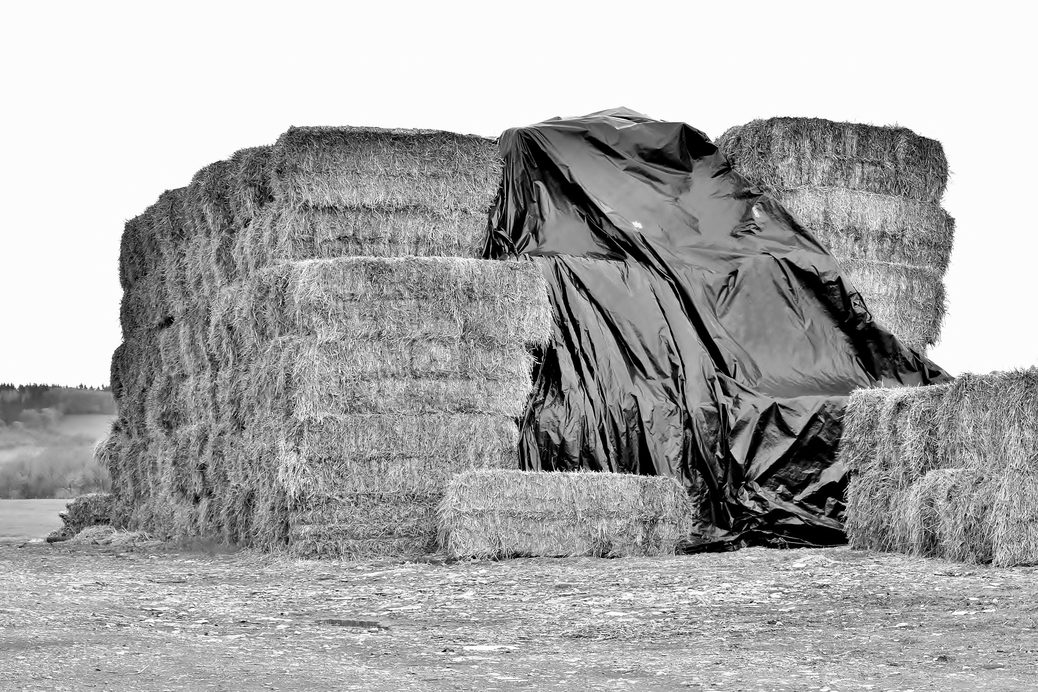 Giant Hay Stack - Monochrome by paul.hosker
