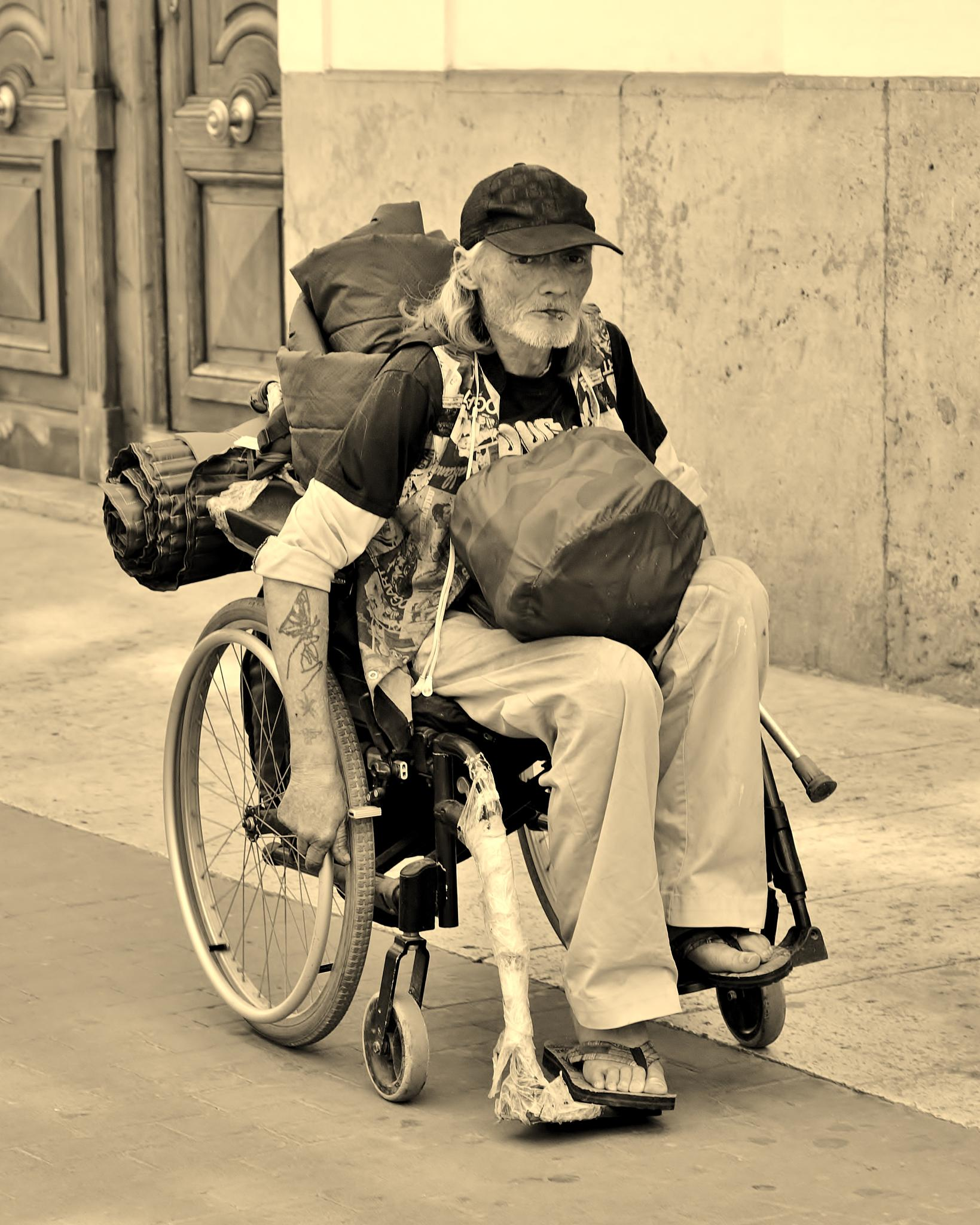 Independence - Wheelchair - Sepia by paul.hosker