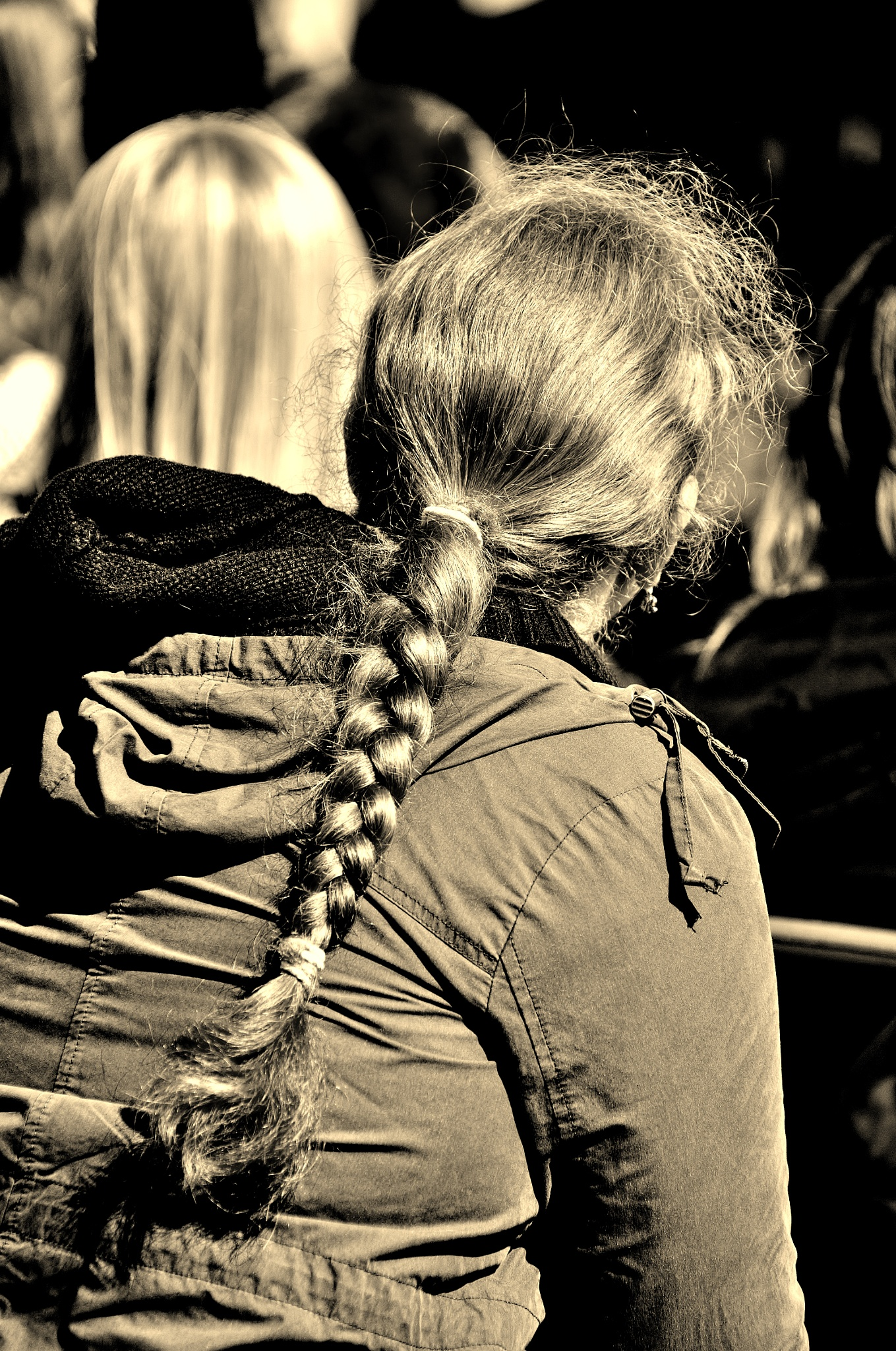 Red Hair In The Sun - Sepia by paul.hosker