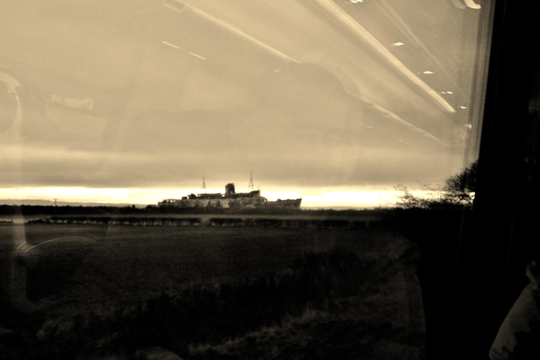Duke Of Lancaster Ship - Mostyn - Sunrise - Sepia by paul.hosker