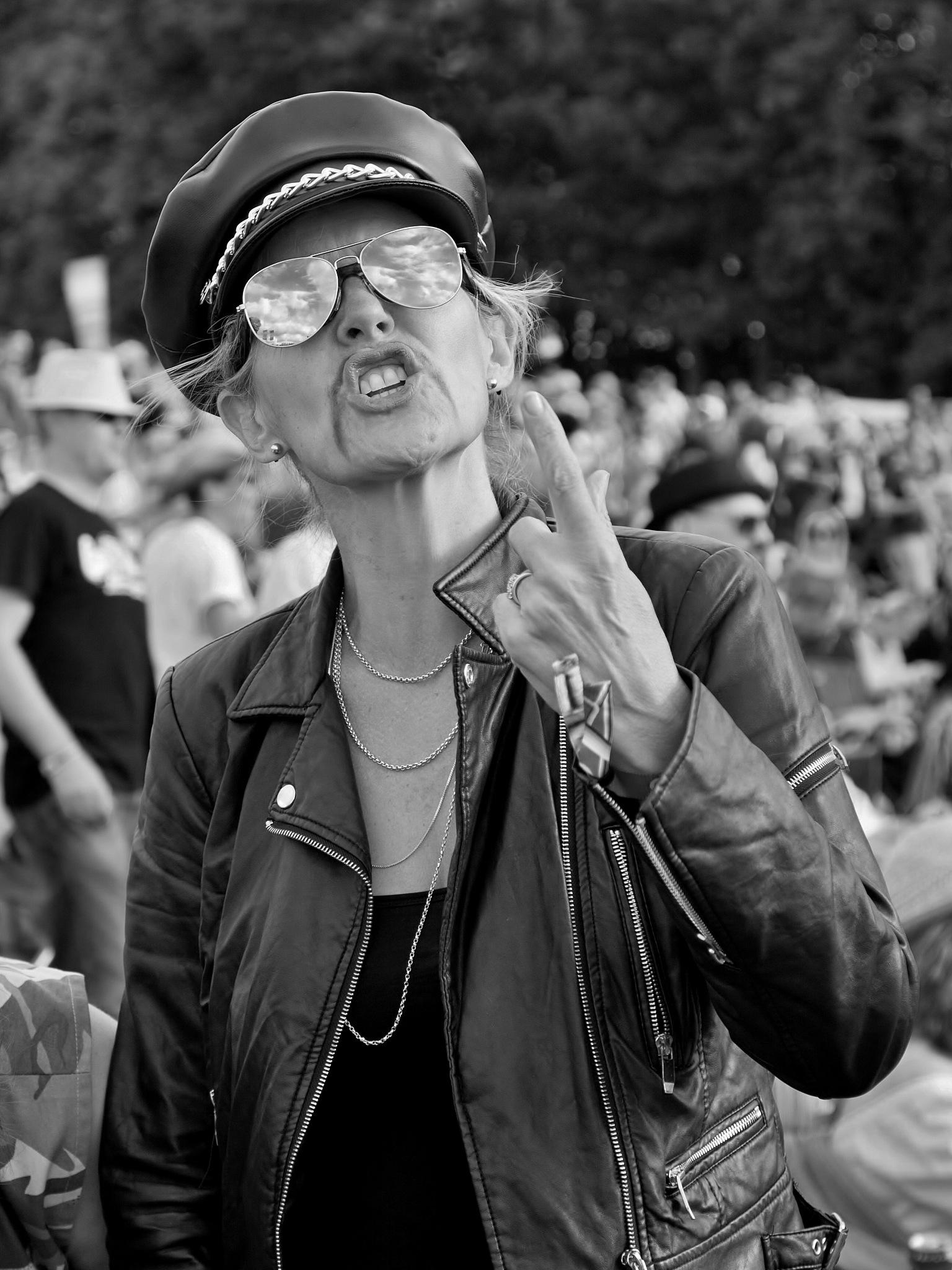 Woman In Leather Costume - REWIND Music Festival 2017 - Monochrome by paul.hosker