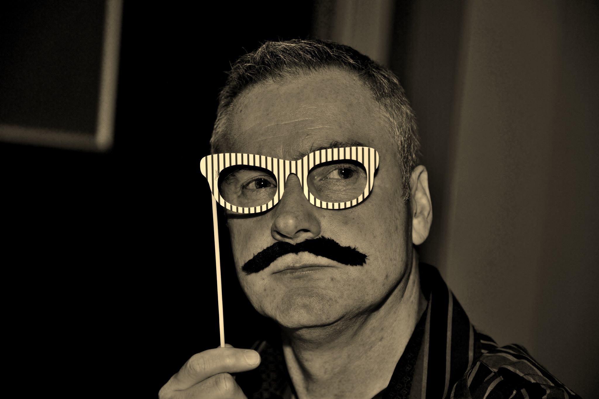 The Man Behind The Moustache - Sepia by paul.hosker