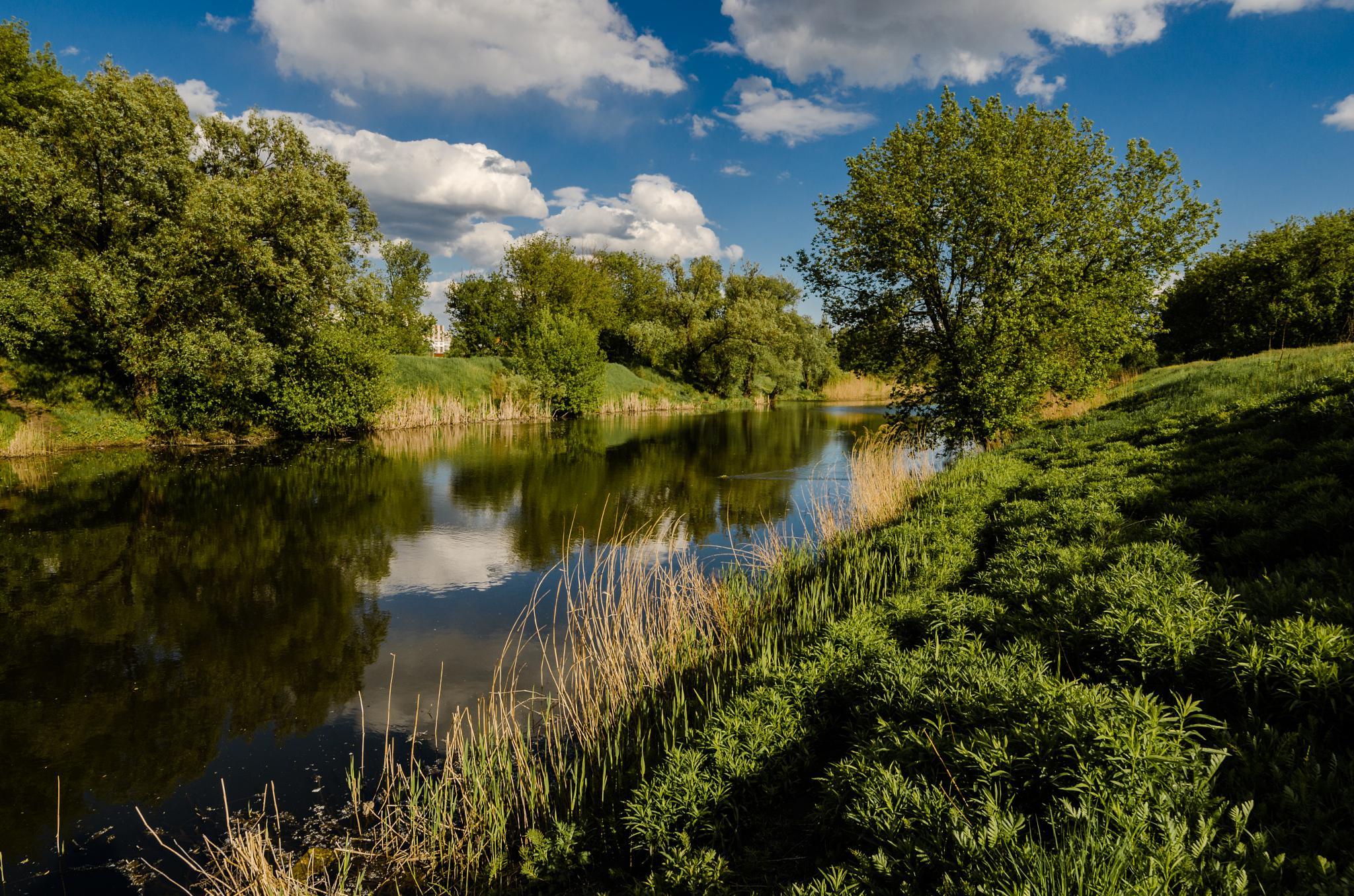 Lopan river. Kharkiv. Ukraine by Igor Nayda