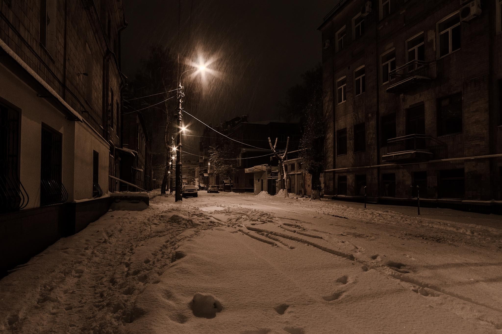 Night streets of the old city. Kharkov. Ukraine by Igor Nayda