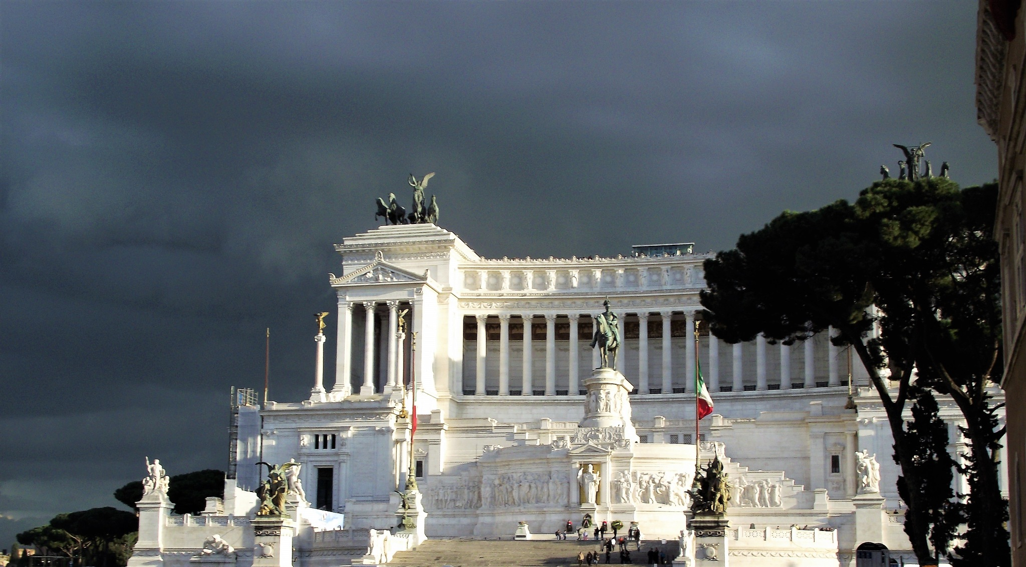 great light on a rainy day in Rome by Giulio