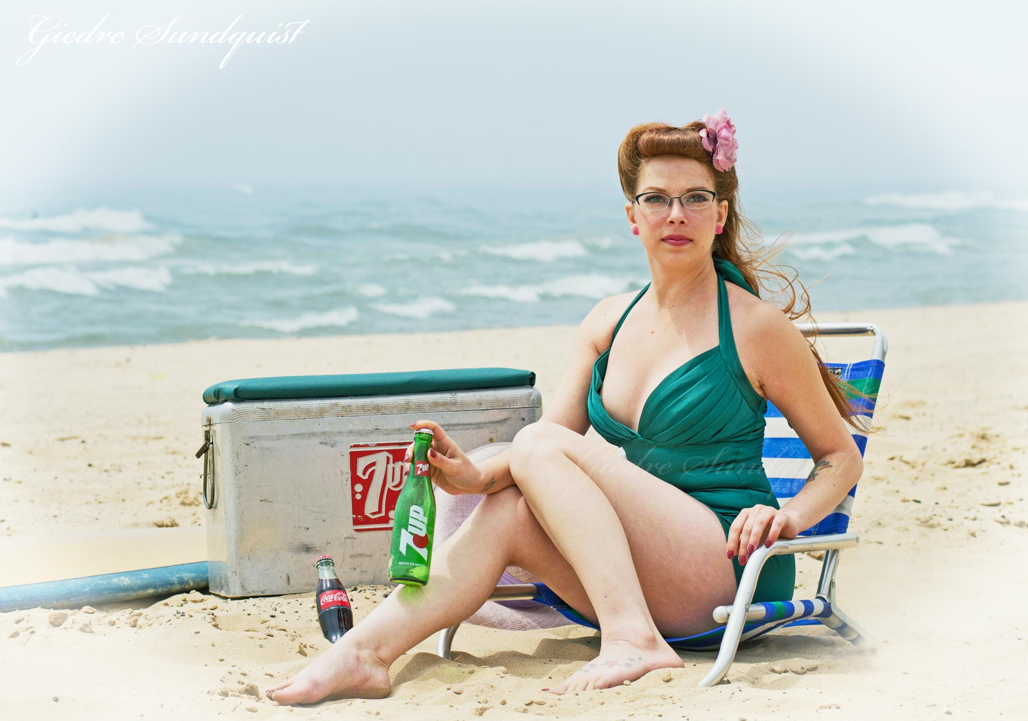 Pin up at the beach by giedre.sundquist